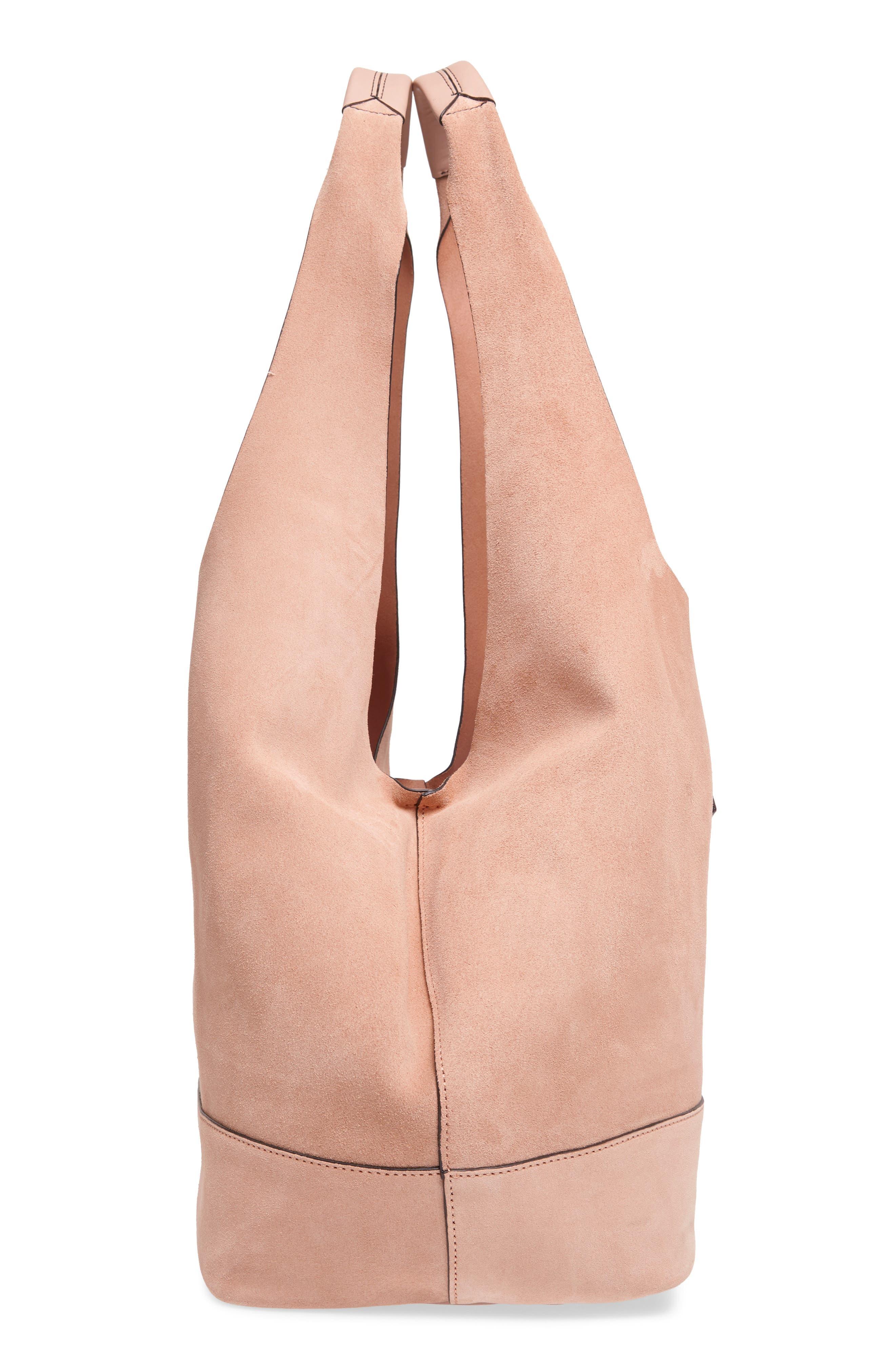 Camden Shopper Bag,                             Alternate thumbnail 5, color,                             NUDE SUEDE