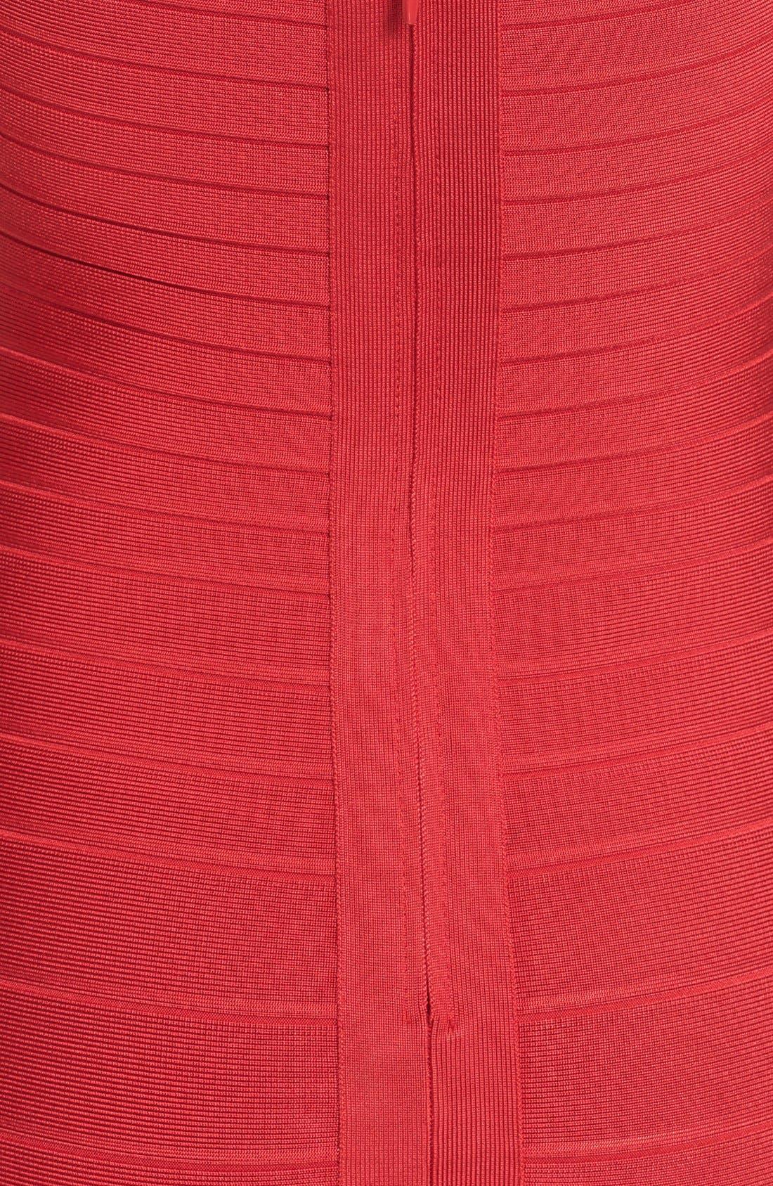 HERVE LEGER,                             Open Back Bandage Dress,                             Alternate thumbnail 3, color,                             616