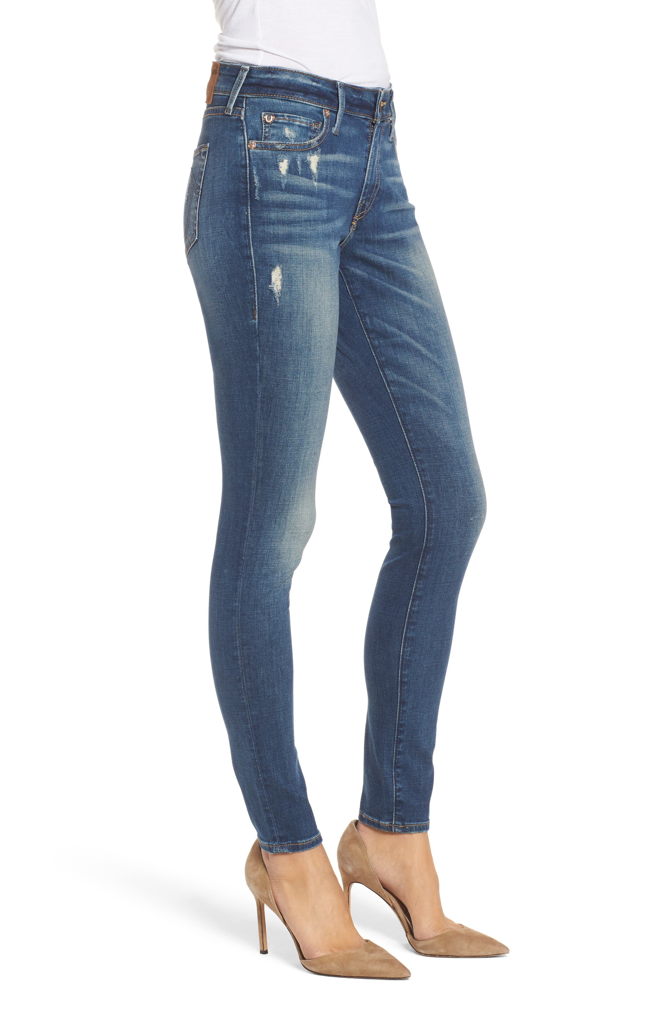 Jennie Curvy Ankle Skinny Jeans,                             Alternate thumbnail 3, color,                             401