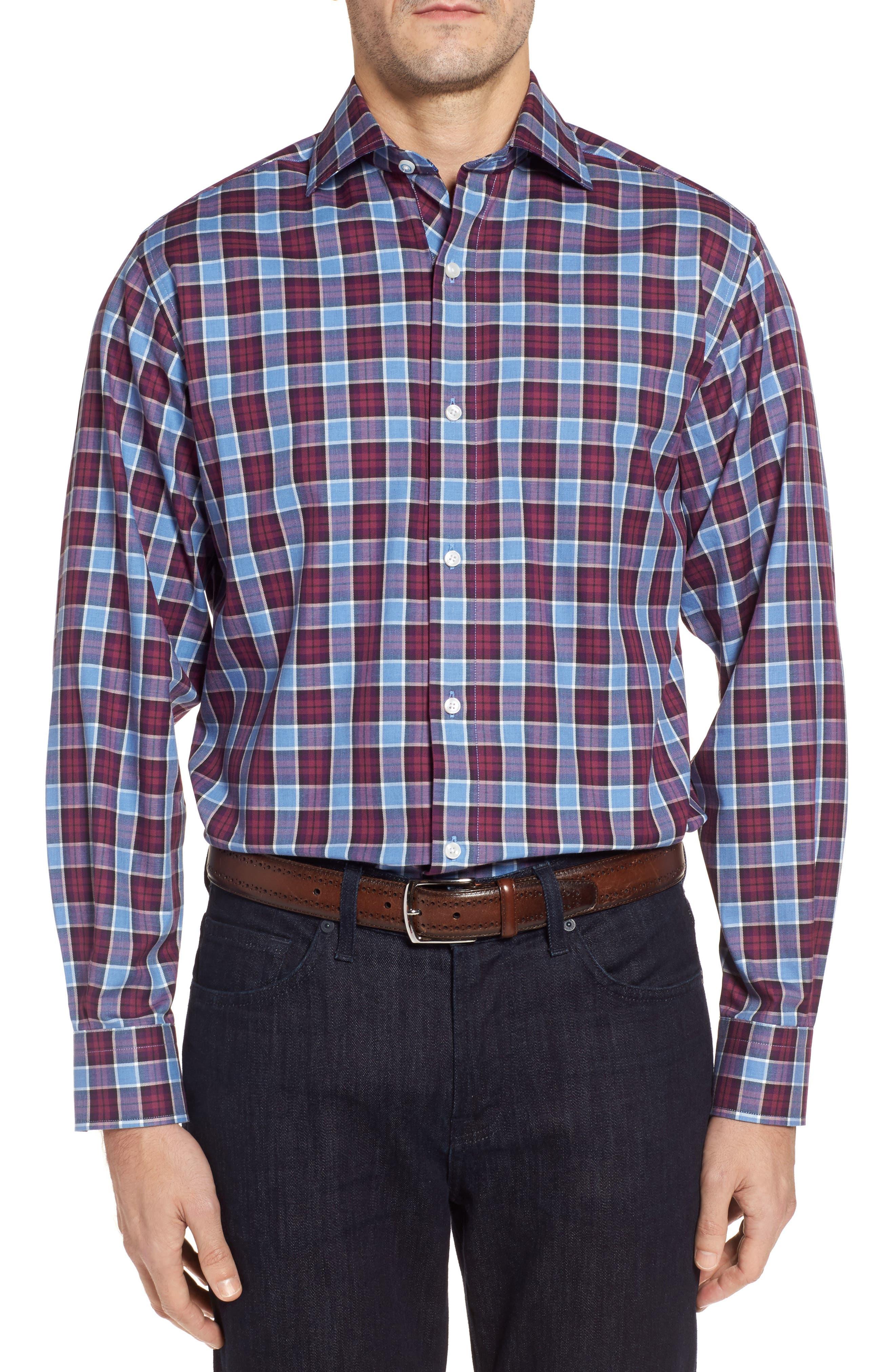 Chareton Check Twill Sport Shirt,                         Main,                         color, 400