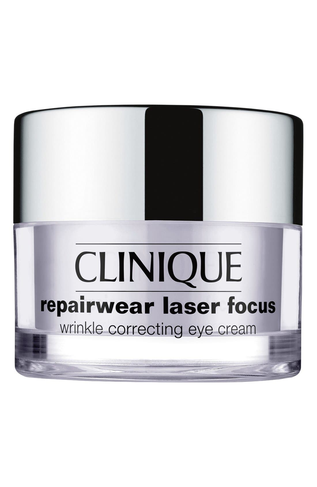 CLINIQUE,                             Repairwear Laser Focus Wrinkle Correcting Eye Cream,                             Main thumbnail 1, color,                             NO COLOR