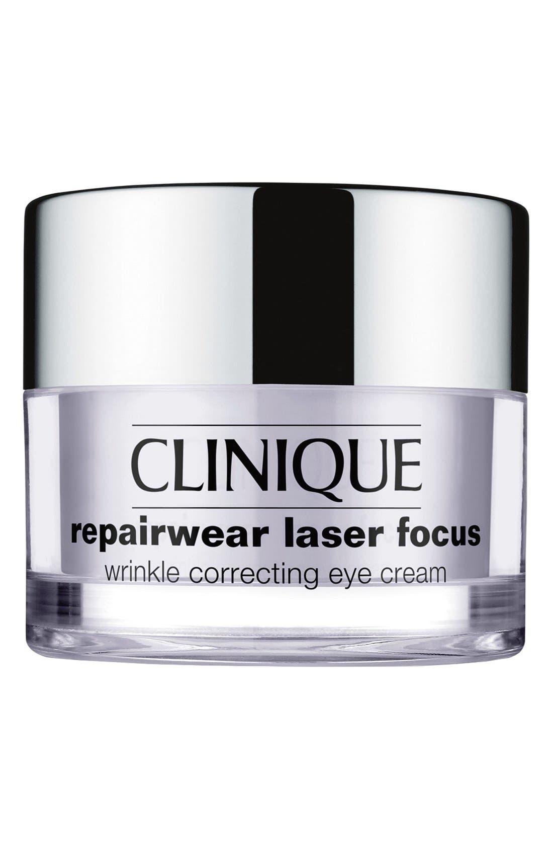 CLINIQUE Repairwear Laser Focus Wrinkle Correcting Eye Cream, Main, color, NO COLOR