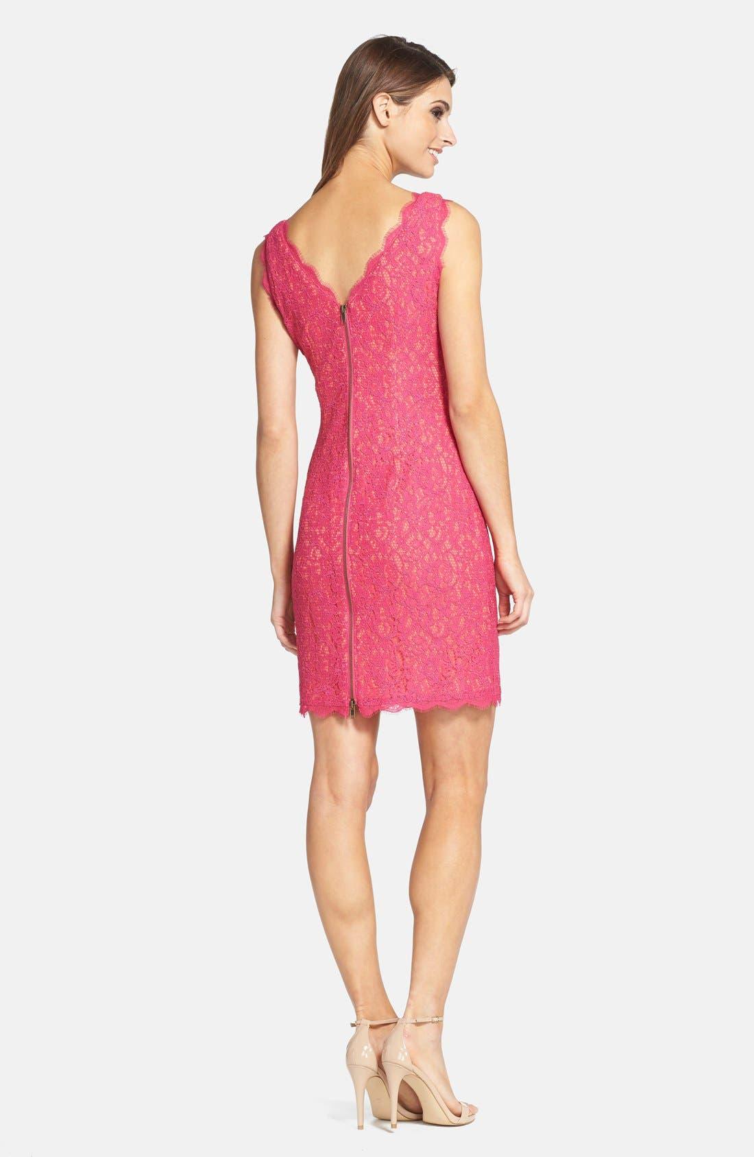 Boatneck Lace Sheath Dress,                             Alternate thumbnail 116, color,