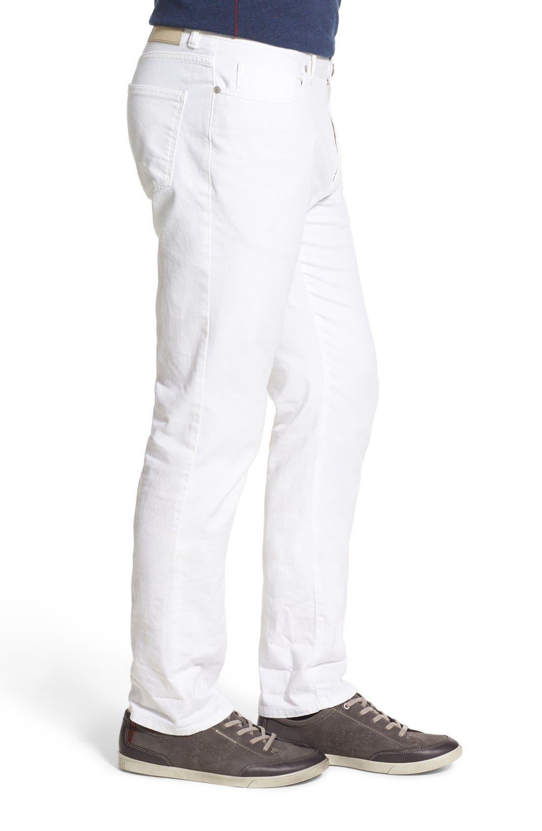 Relaxed Fit Whitewash Denim Jeans,                             Alternate thumbnail 5, color,                             100
