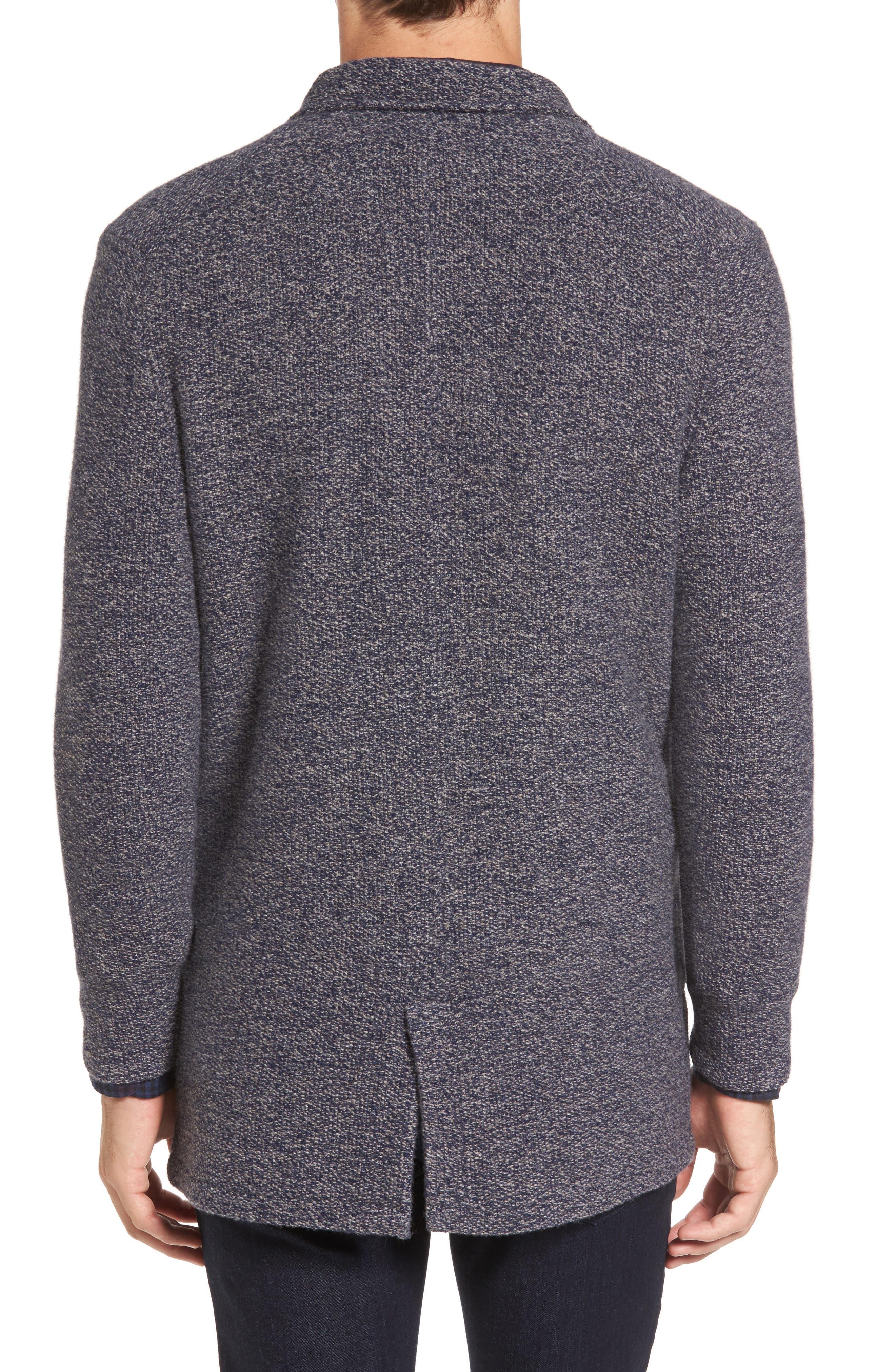 Deconstructed Merino & Yak Wool Sweater Jacket,                             Alternate thumbnail 2, color,                             416