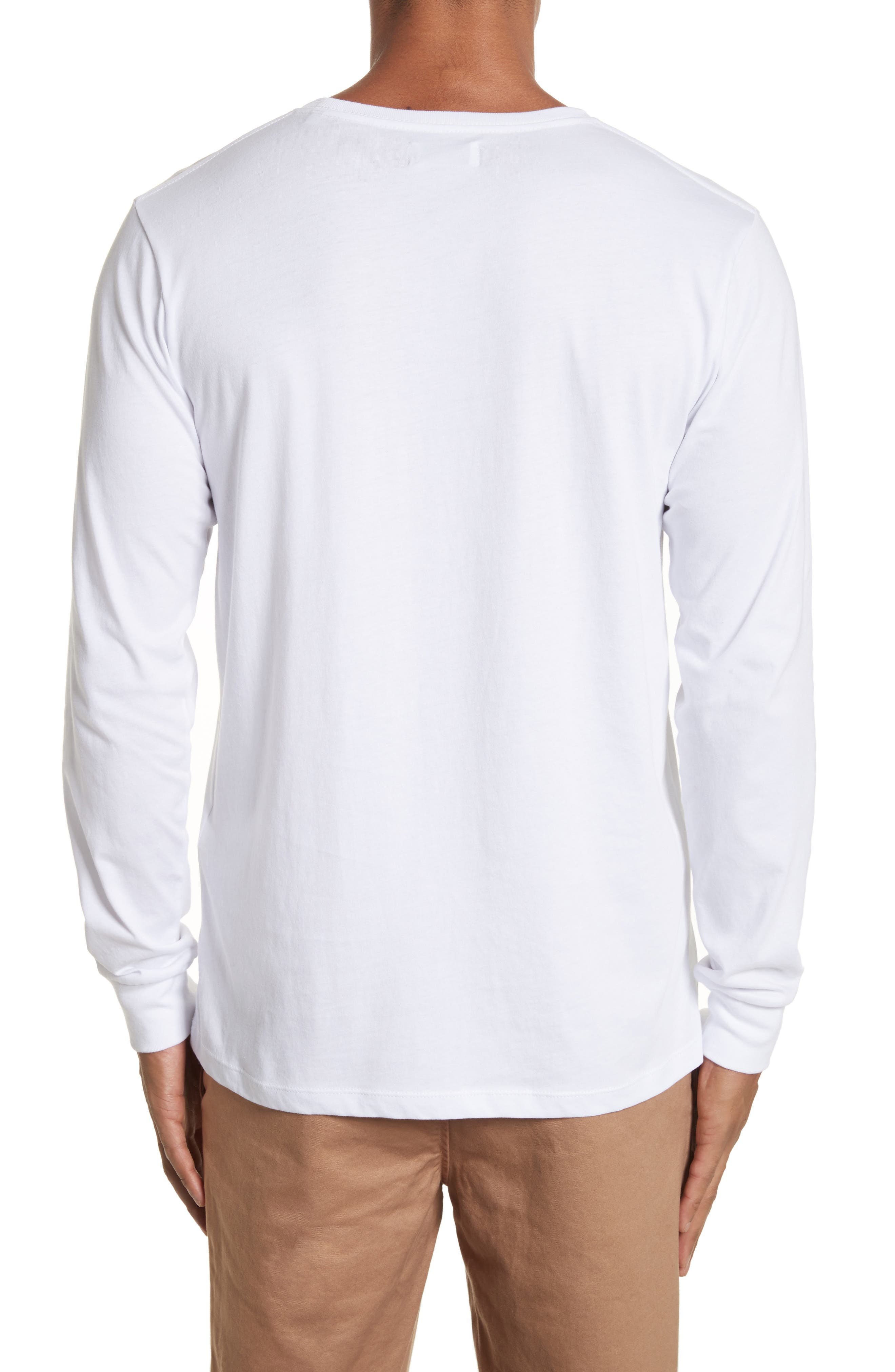 Stacked Logo Graphic Long Sleeve T-Shirt,                             Alternate thumbnail 2, color,                             110
