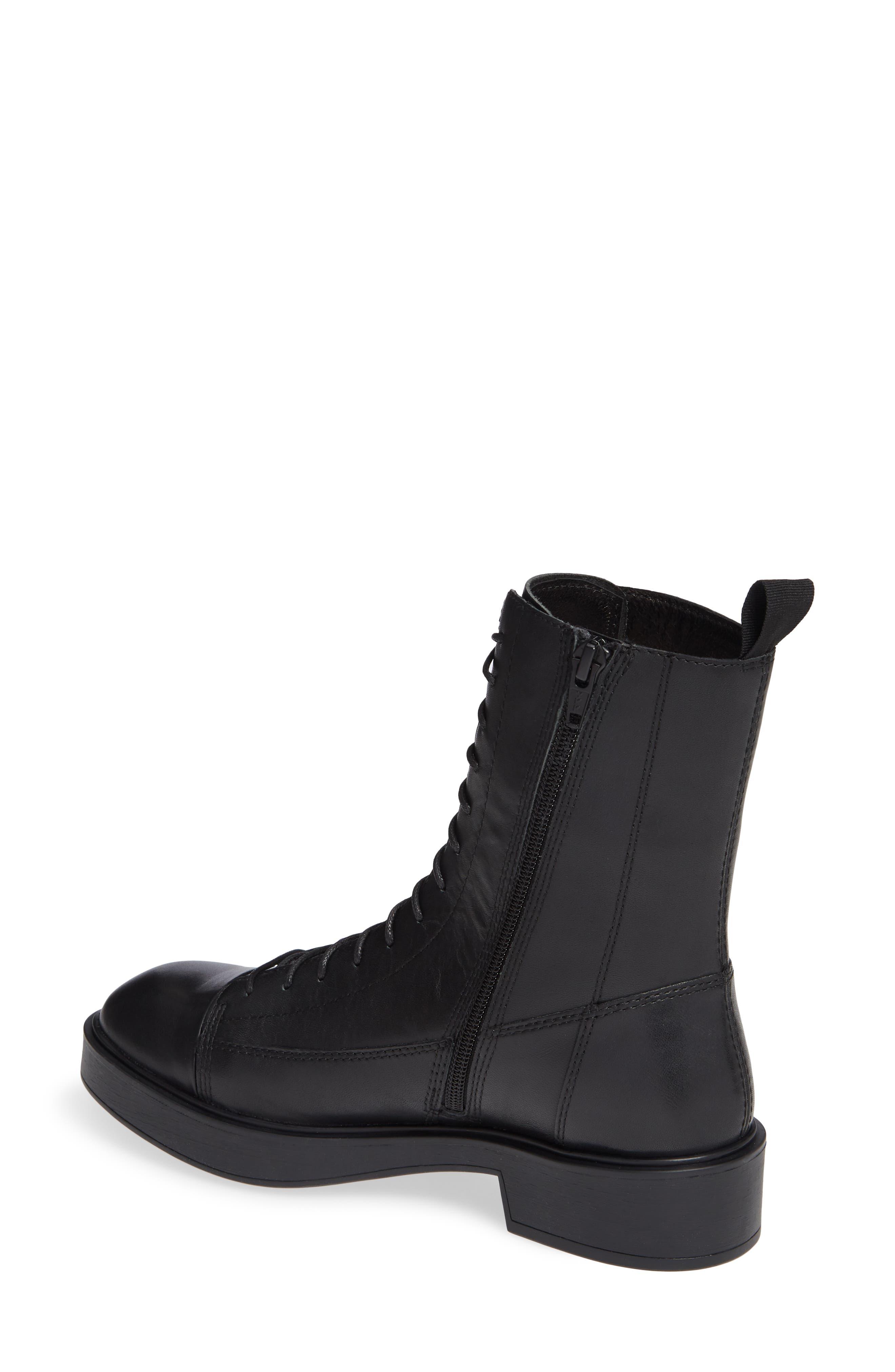 Shoemakers Diane Lace-Up Bootie,                             Alternate thumbnail 2, color,                             BLACK LEATHER