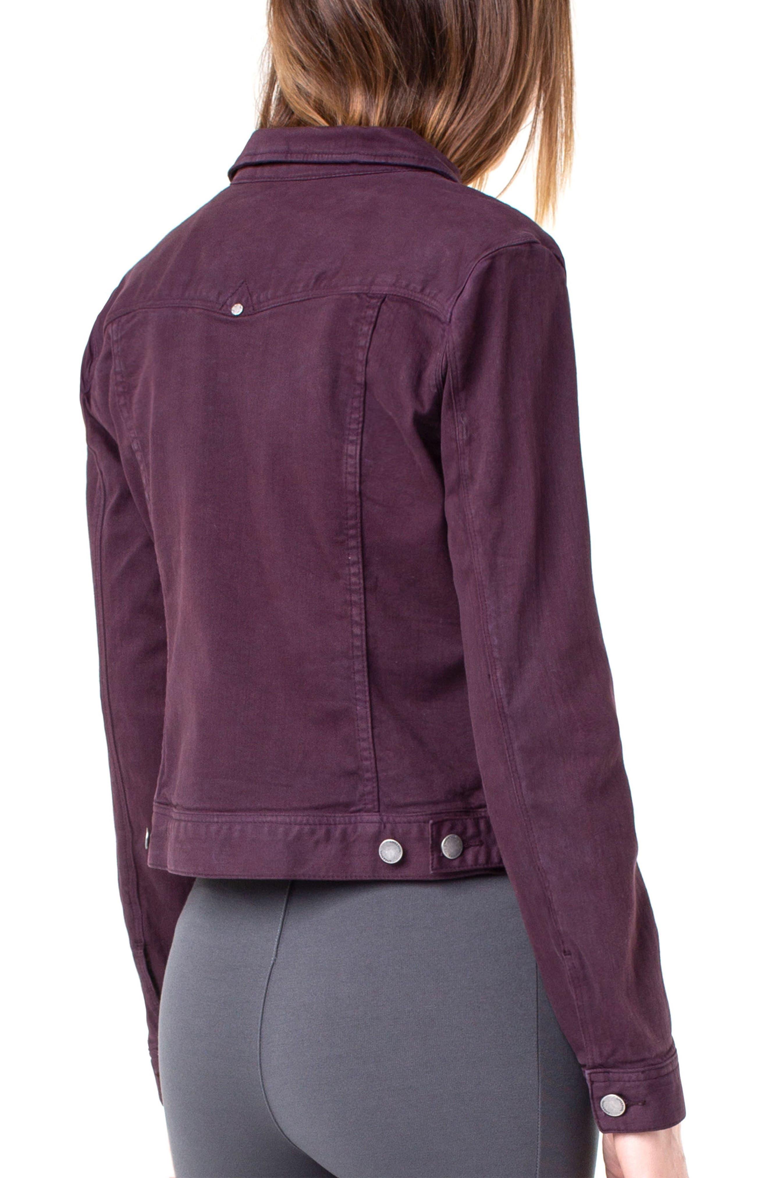 Denim Jacket,                             Alternate thumbnail 5, color,                             RICH VELVET