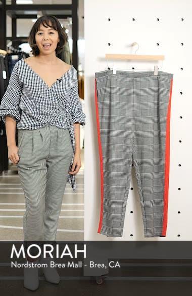 Glen High Rise Side Stripe Plaid Pants, sales video thumbnail