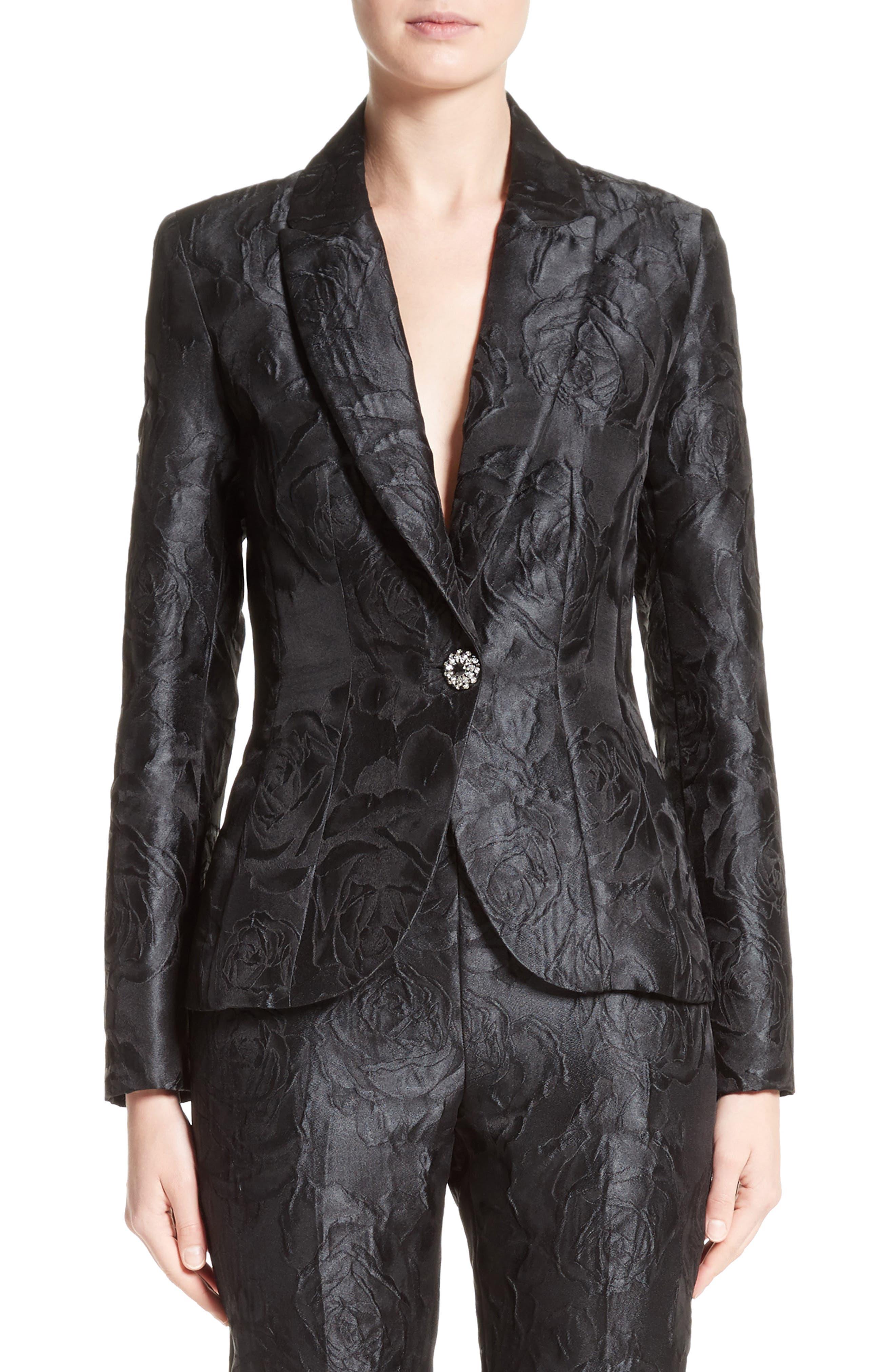 Avani Rose Jacquard Jacket,                             Main thumbnail 1, color,                             001
