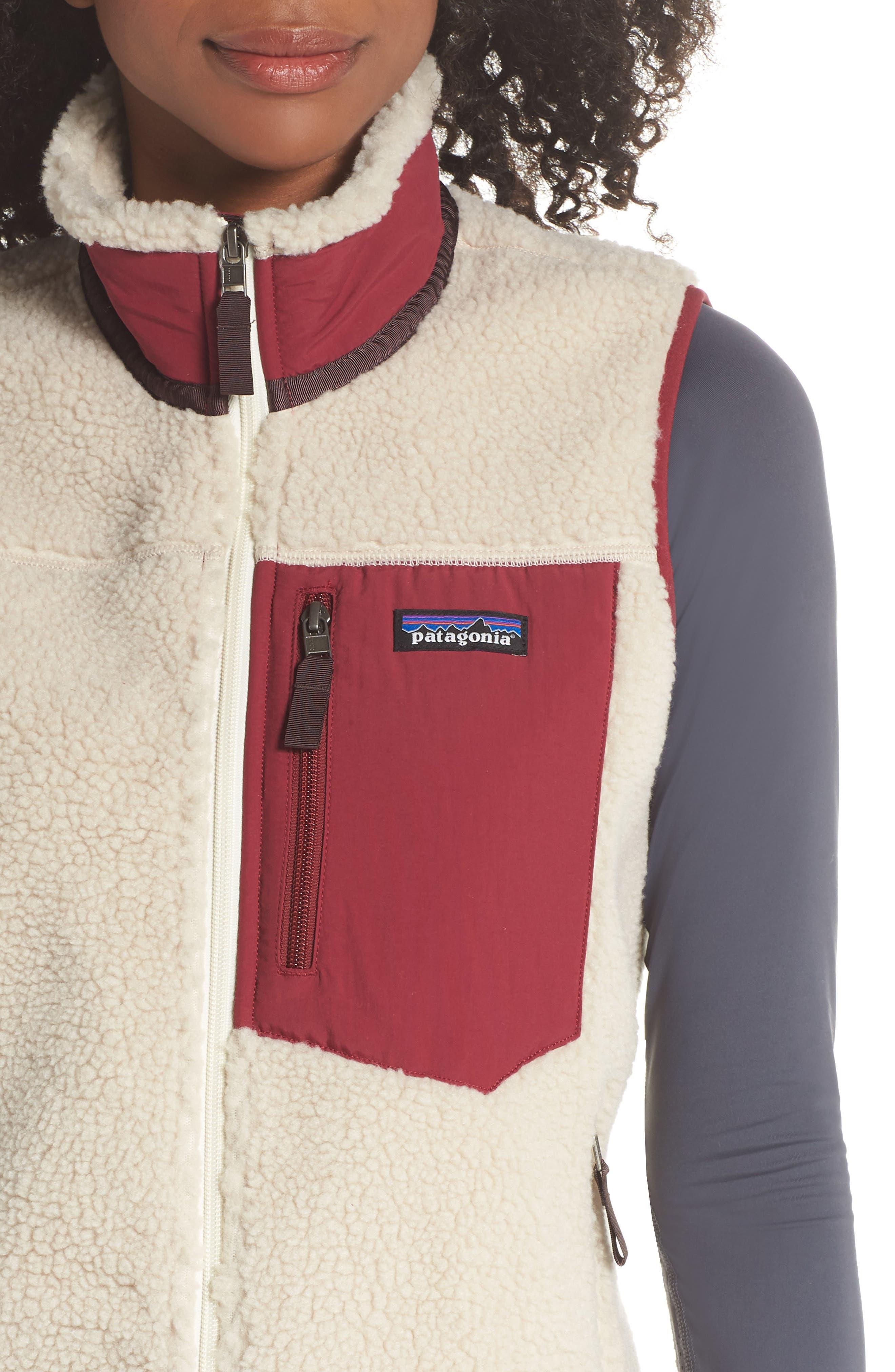 Classic Retro-X<sup>®</sup> Fleece Vest,                             Alternate thumbnail 4, color,                             NATURAL W/ ARROW RED