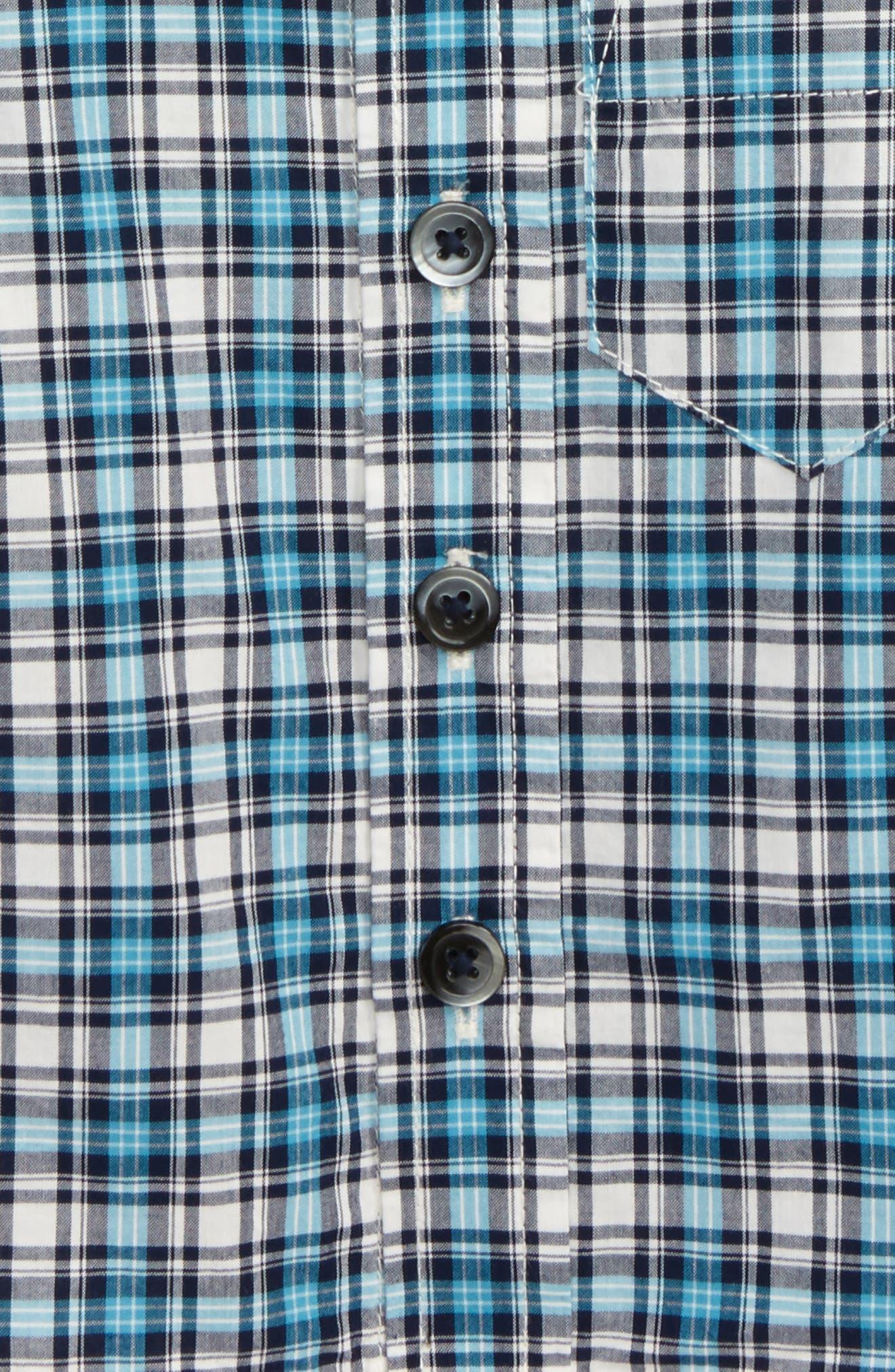Heath Plaid Woven Shirt,                             Alternate thumbnail 2, color,