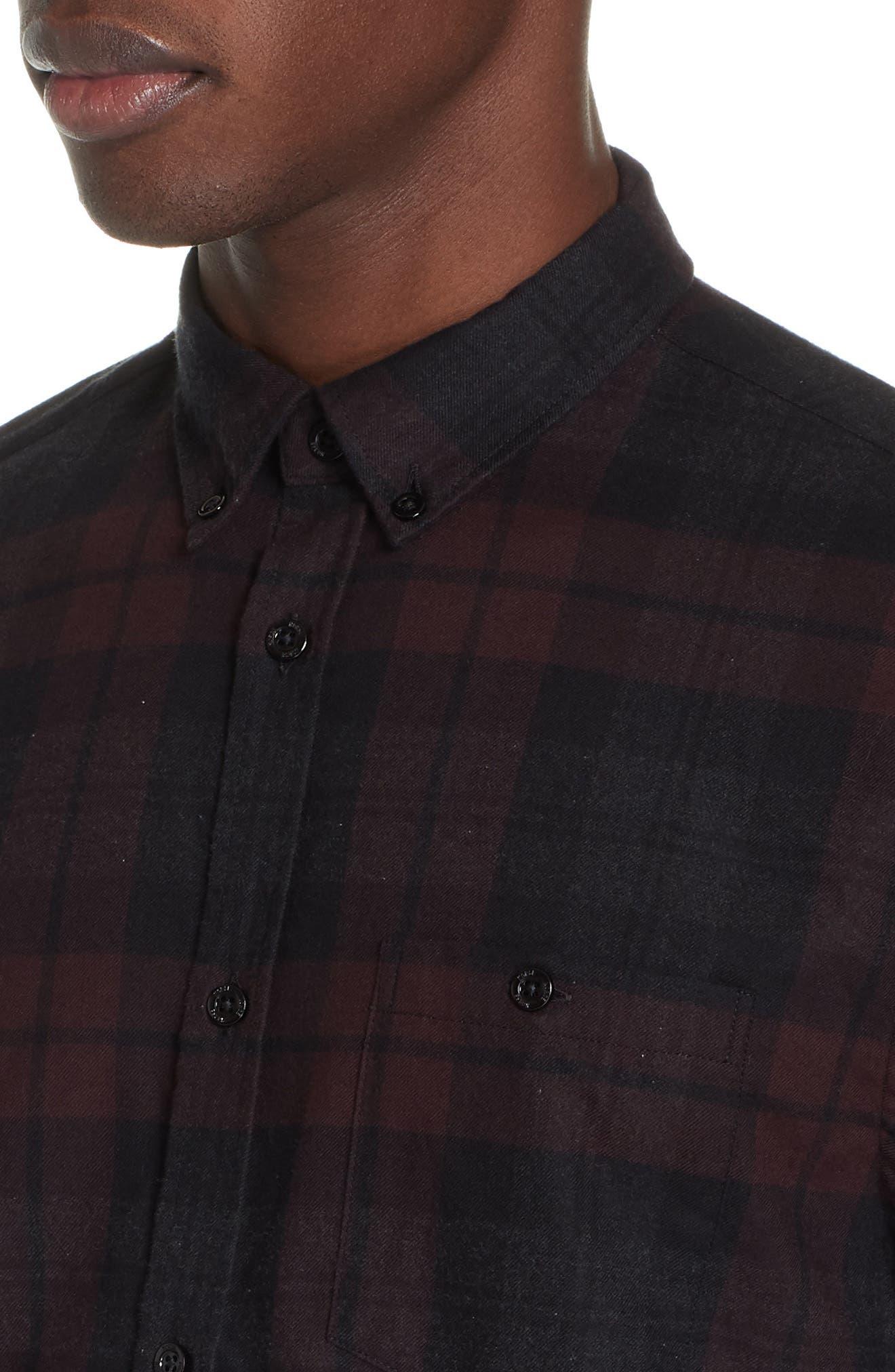 Anton Flannel Sport Shirt,                             Alternate thumbnail 2, color,                             200