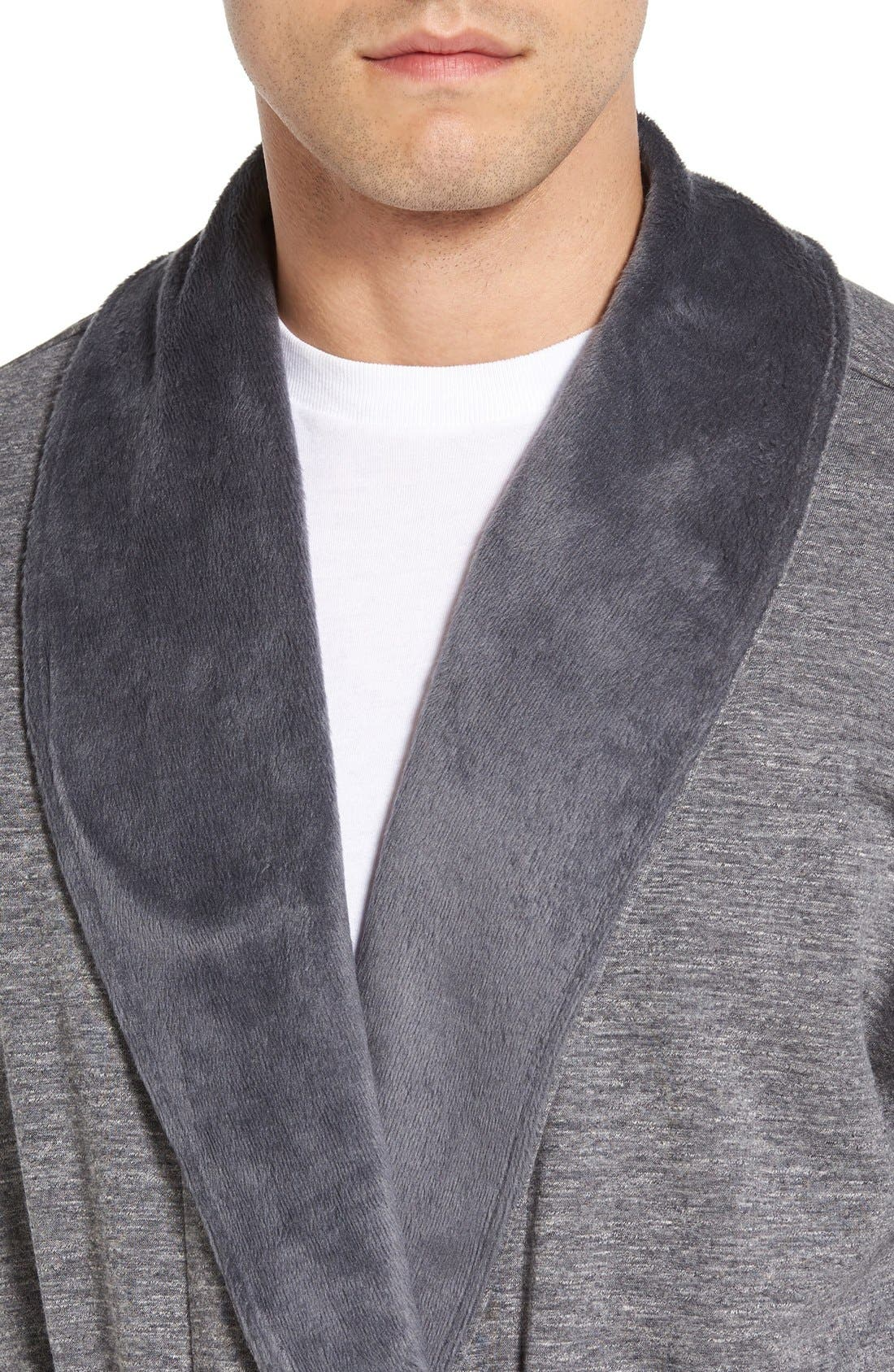 'Robinson' Stretch Cotton Robe,                             Alternate thumbnail 9, color,