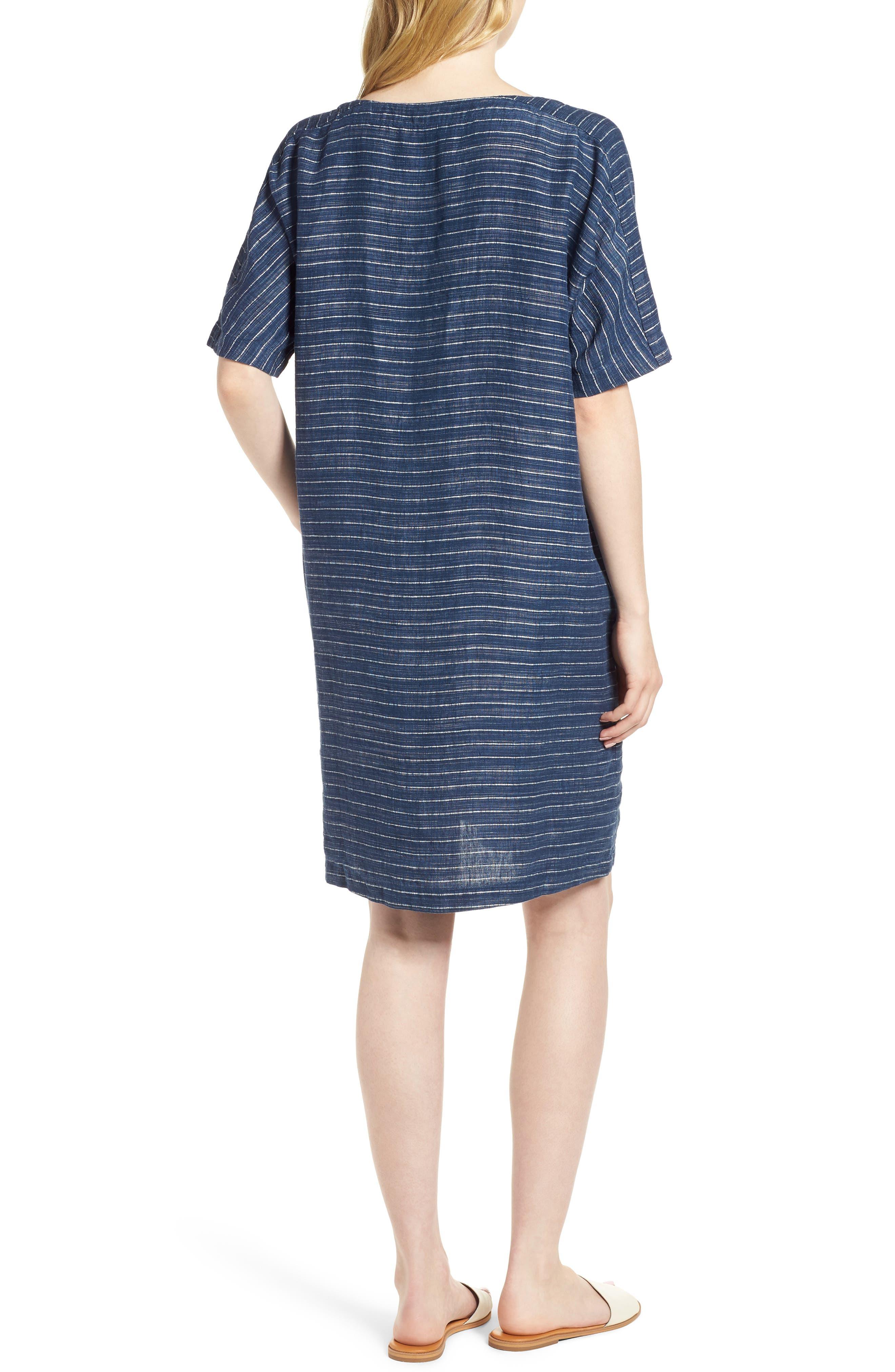 Stripe Linen Tunic Dress,                             Alternate thumbnail 2, color,                             480