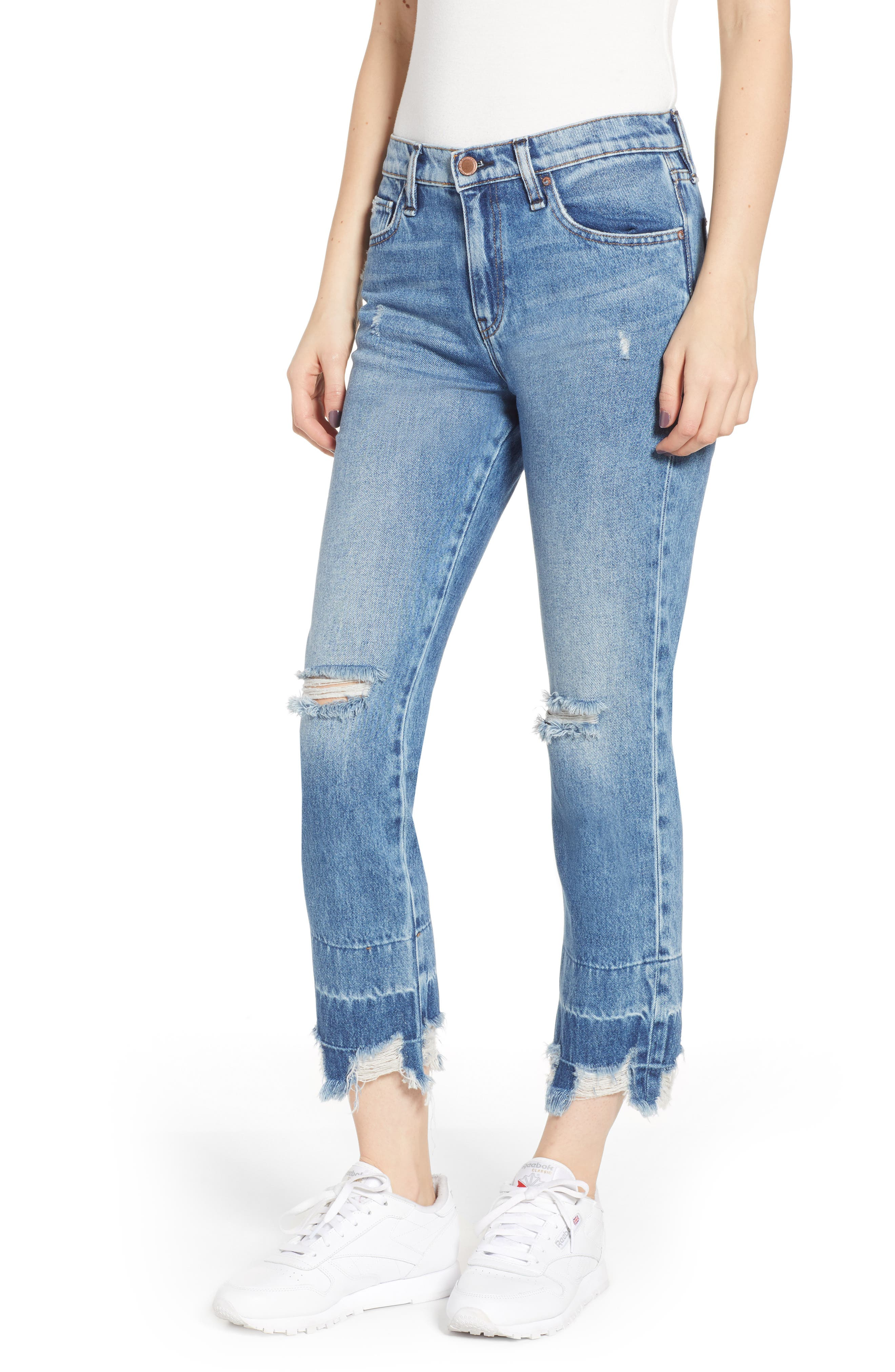 HUDSON JEANS Jessi Ripped Boyfriend Jeans, Main, color, OVERSHADOW