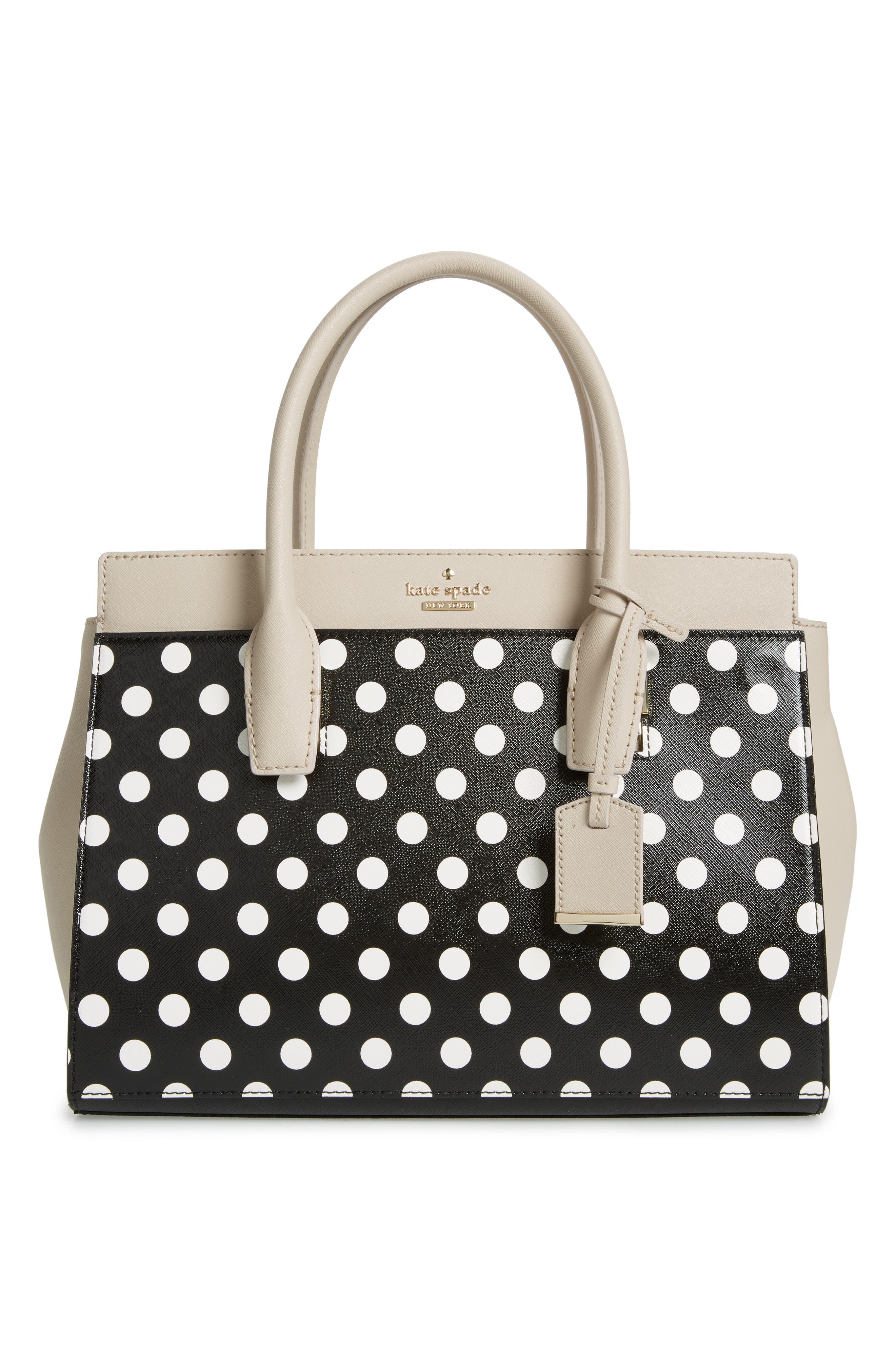 make it mine reversible polka dot/solid leather snap-on accent flap,                             Alternate thumbnail 2, color,                             010