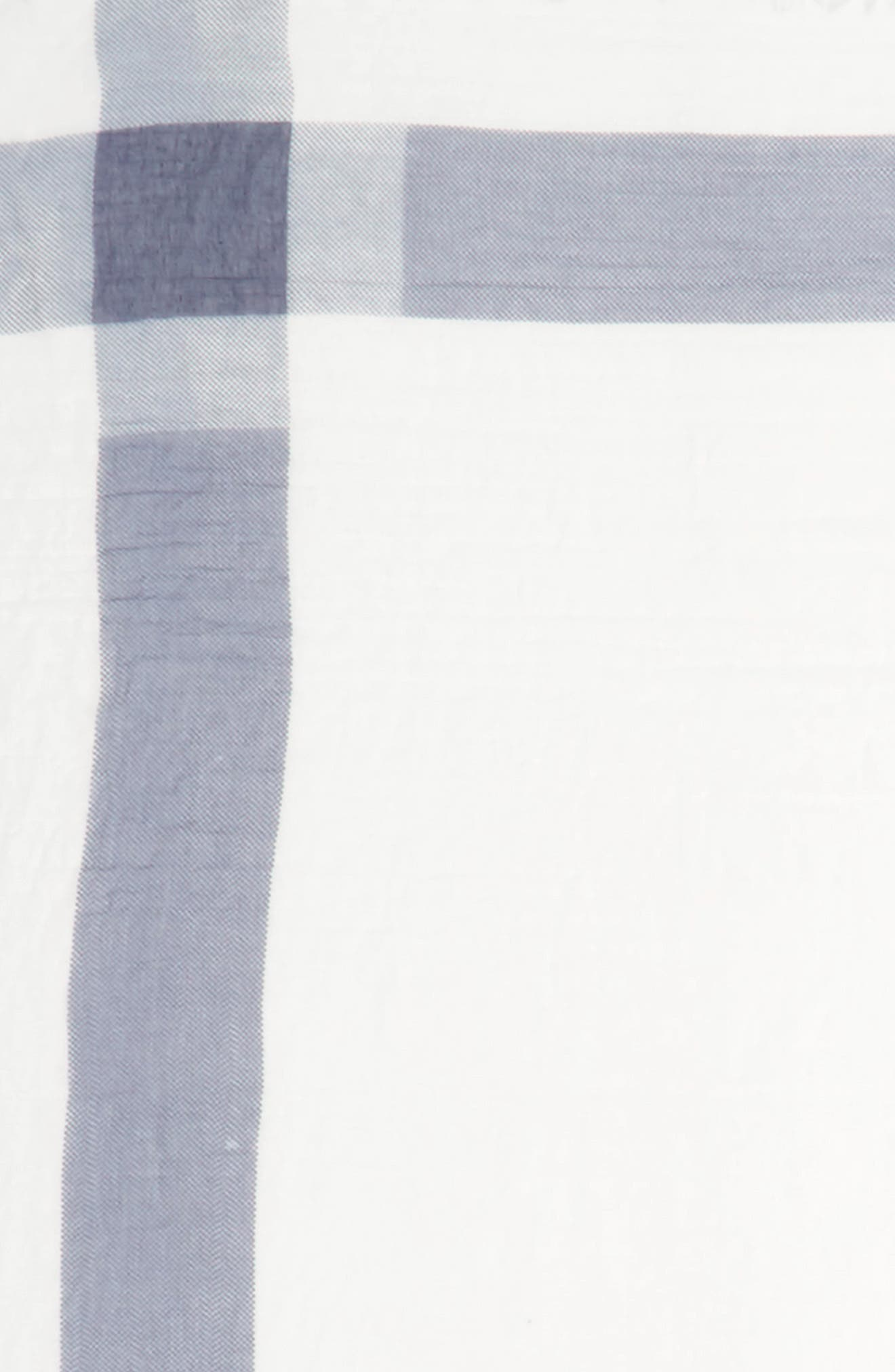 Plaid Square Scarf,                             Alternate thumbnail 3, color,                             900