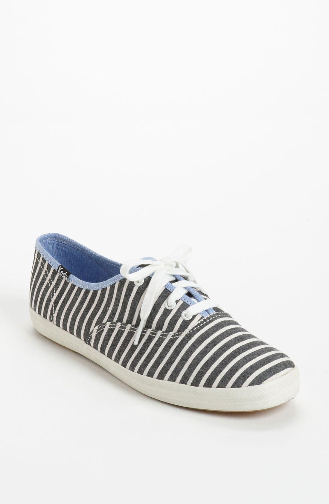 'Champion Prep Stripe' Sneaker,                             Main thumbnail 1, color,                             001