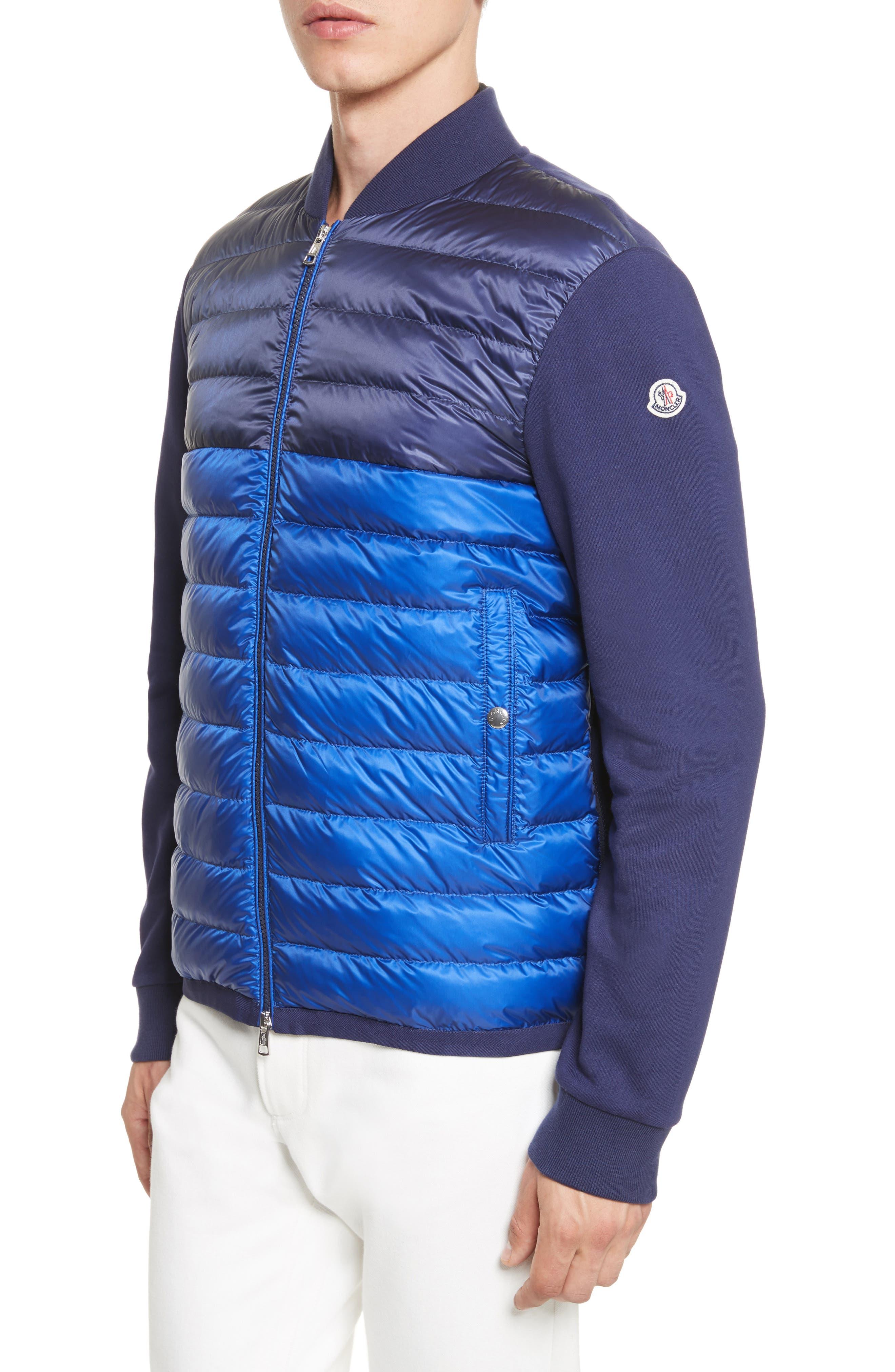 Maglia Mixed Media Down Knit Jacket,                         Main,                         color, 420