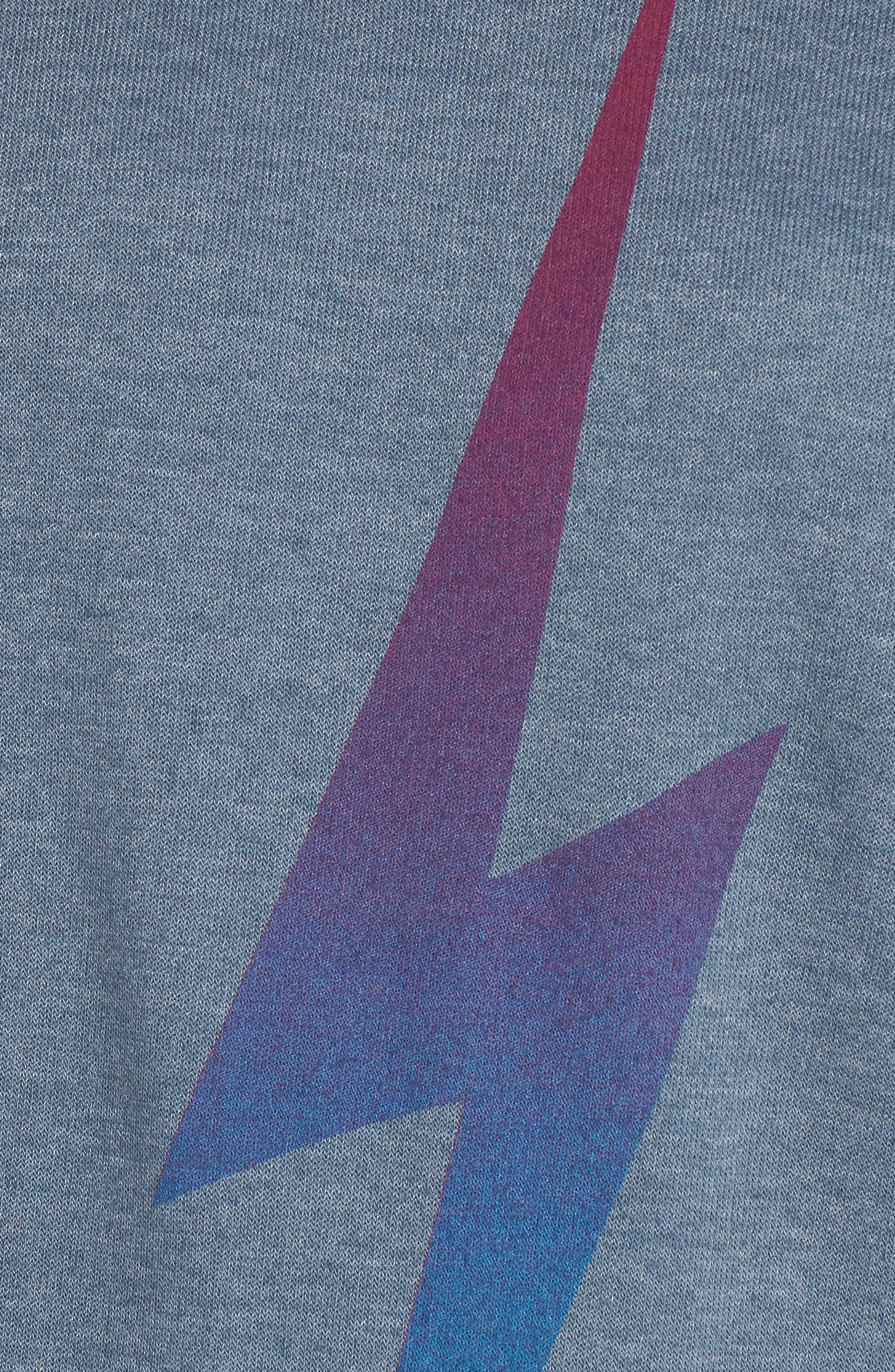 Bolt Fade Sweatshirt,                             Alternate thumbnail 6, color,                             SLATE/ PURPLE
