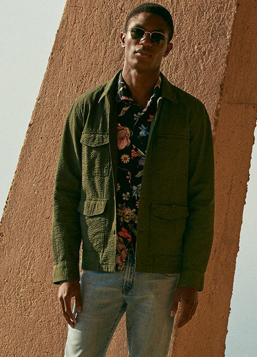 Weekend clothes and accessories for men.