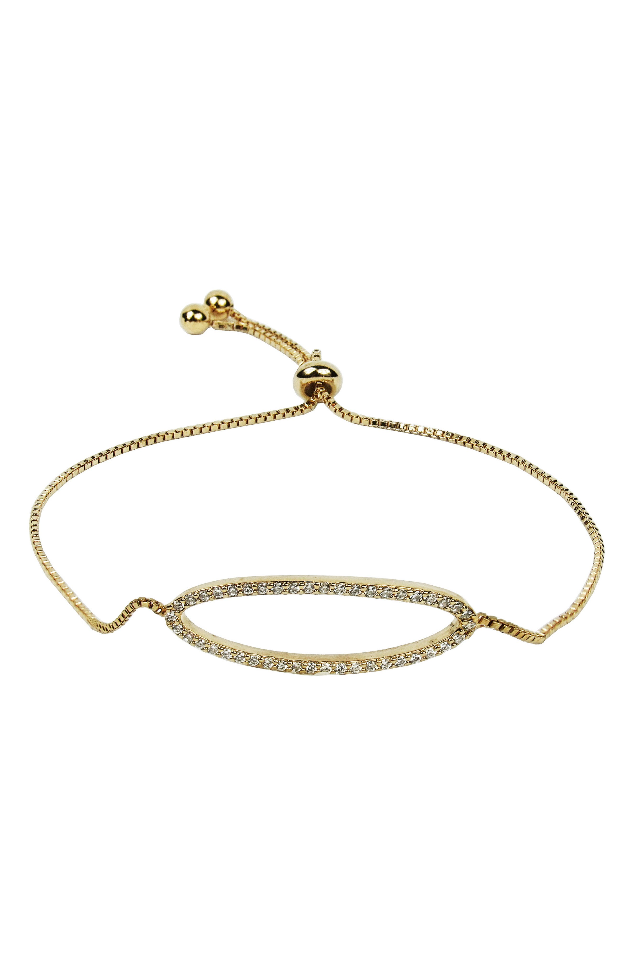 Pavé Crystal Bracelet,                         Main,                         color, GOLD