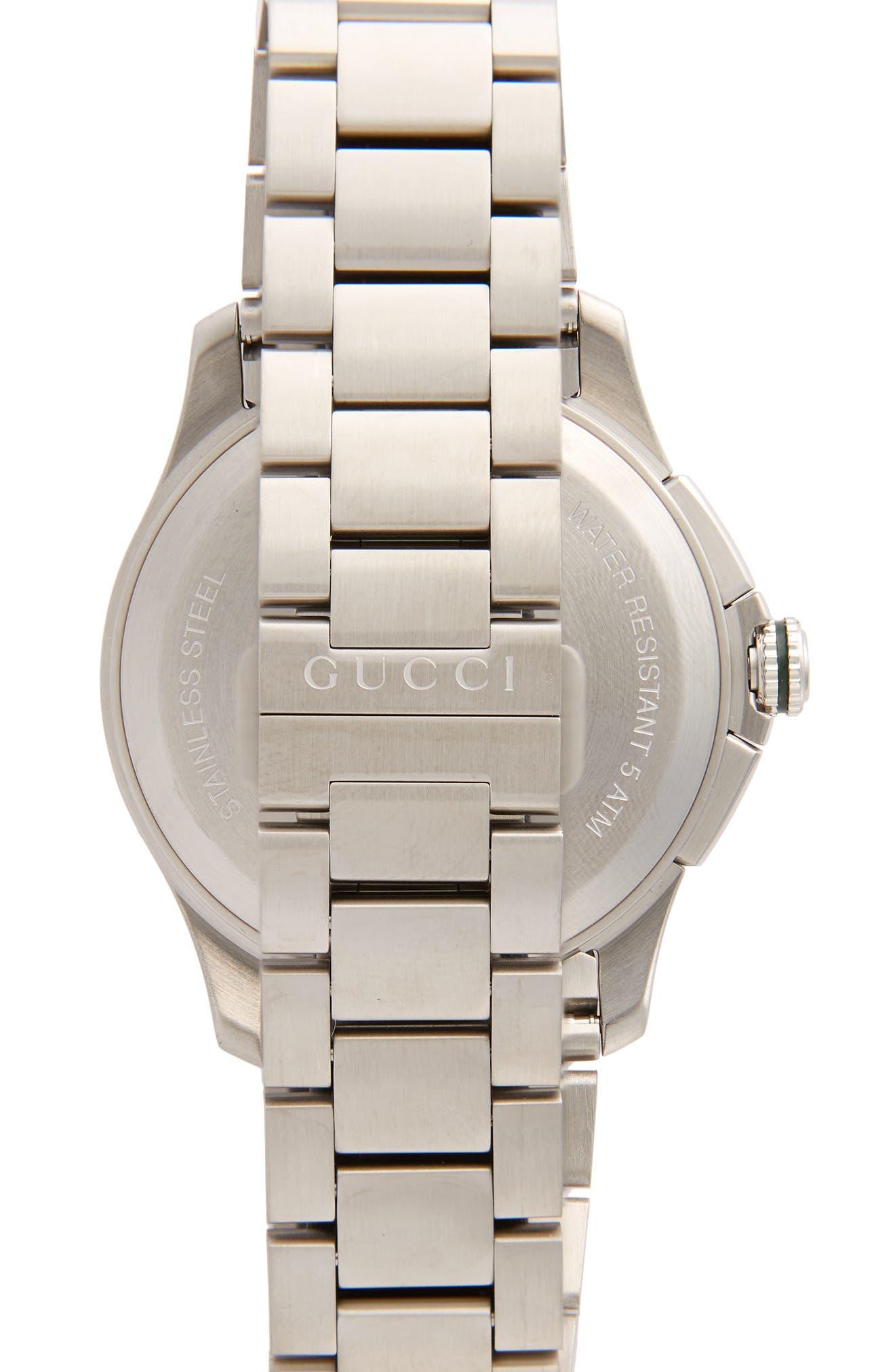 G Timeless Chronograph Bracelet Watch, 45mm,                             Alternate thumbnail 2, color,                             SILVER/ BLACK/ SILVER
