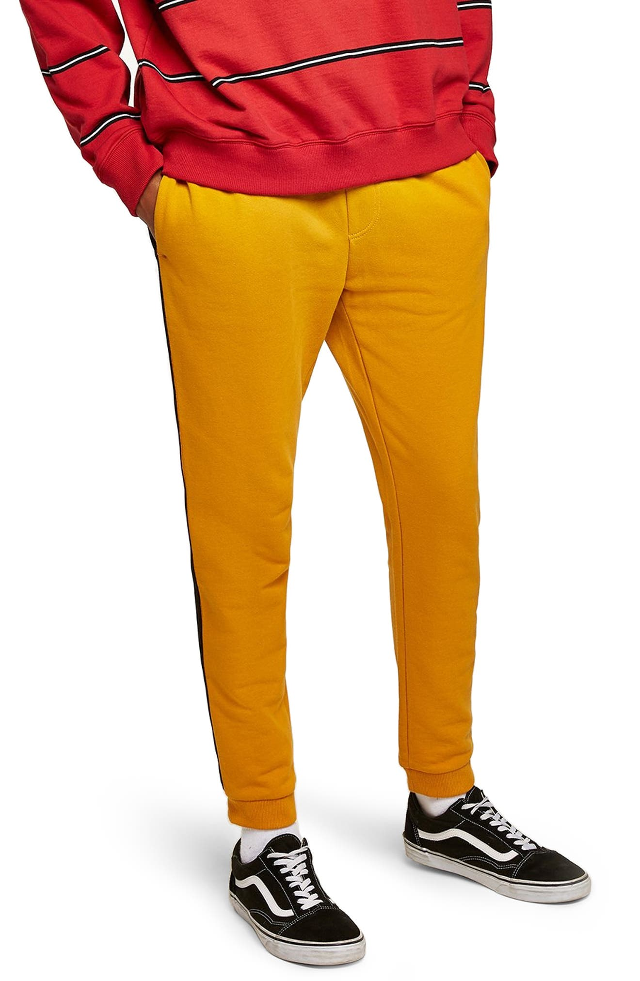 Classic Fit Side Tape Joggers,                             Main thumbnail 1, color,                             YELLOW MULTI