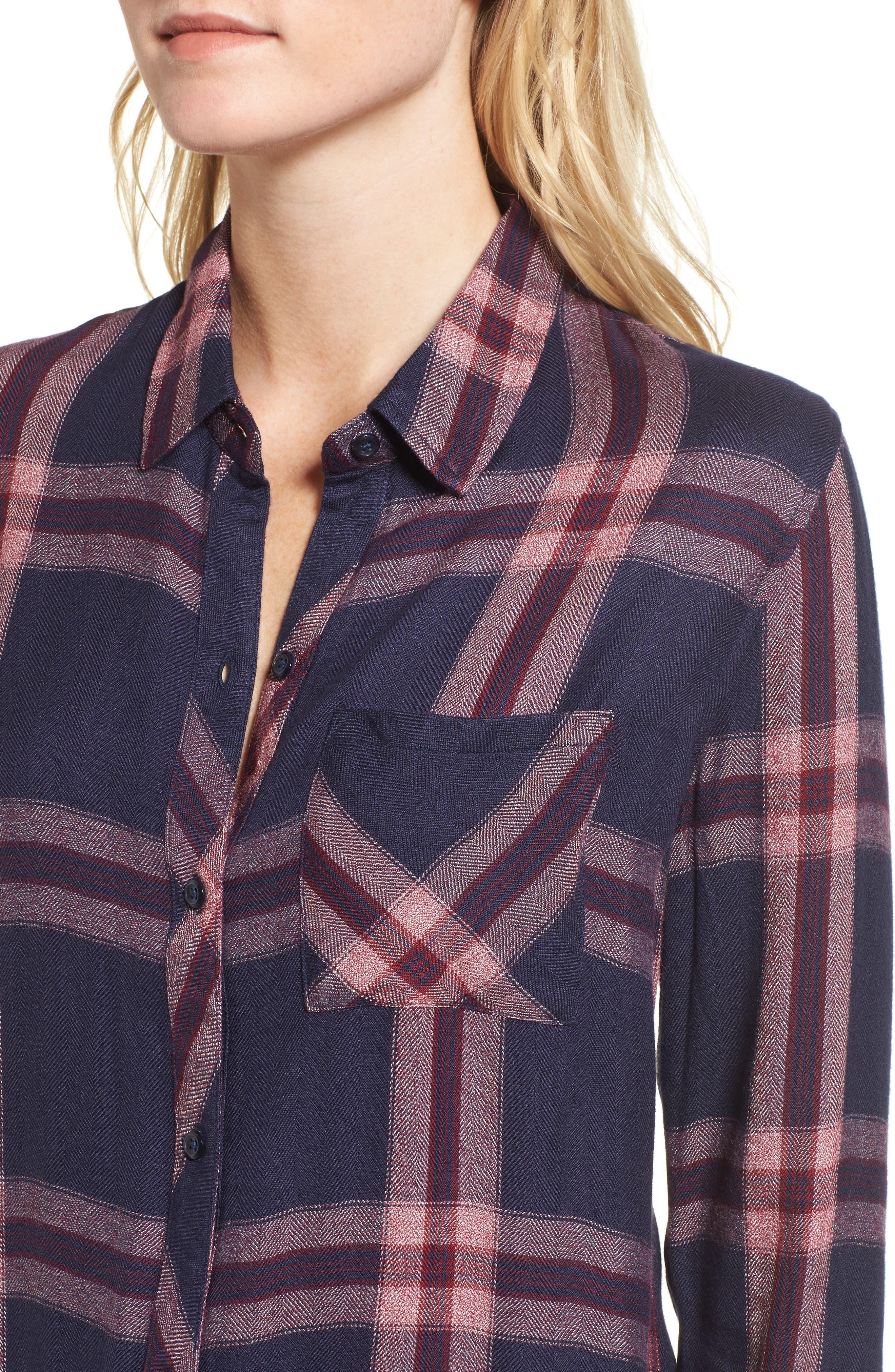 Hunter Plaid Shirt,                             Alternate thumbnail 453, color,