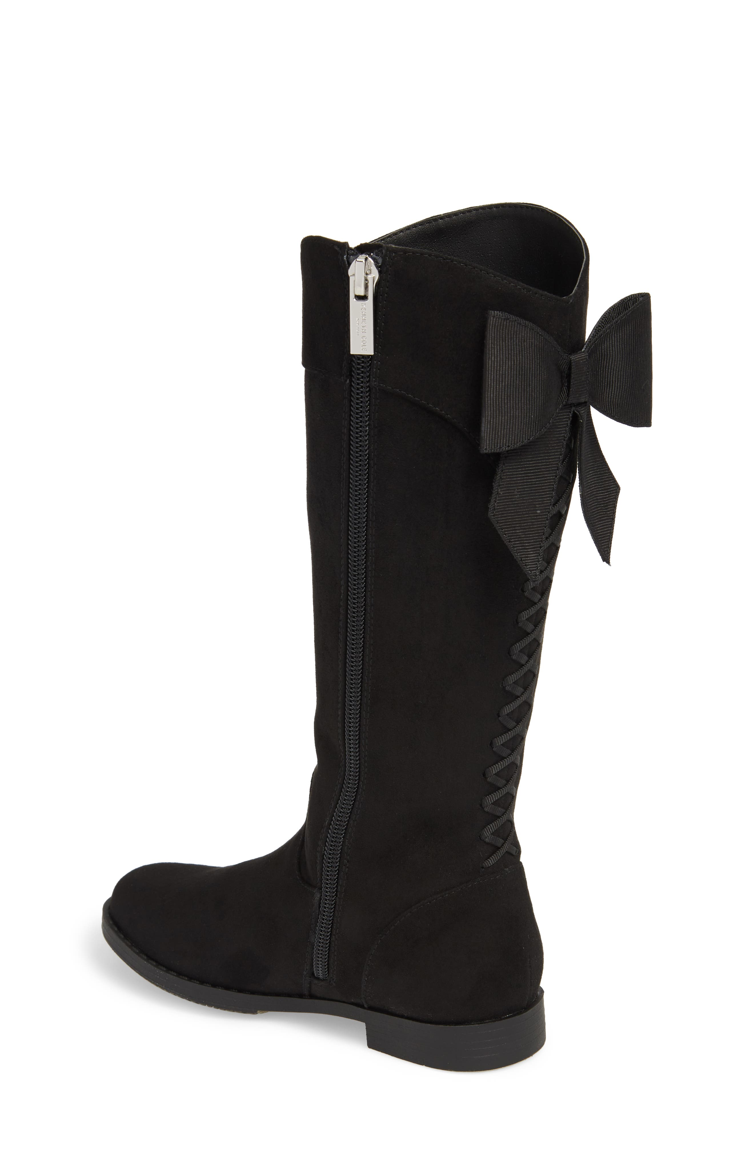 Kenneth Cole Collection Kennedy Bow Boot,                             Alternate thumbnail 2, color,                             BLACK