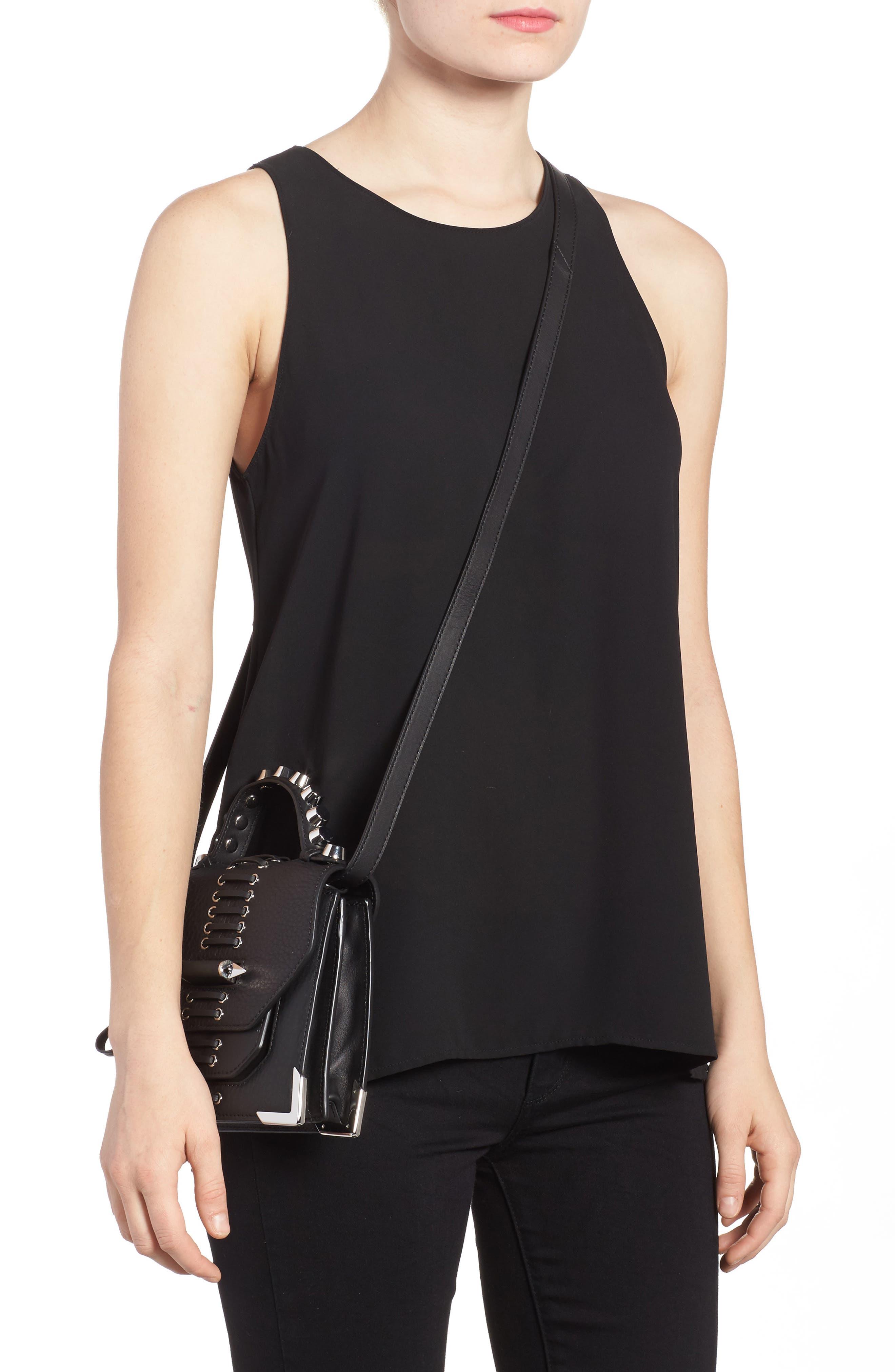 Mini Rubie Leather Crossbody Bag,                             Alternate thumbnail 2, color,                             001