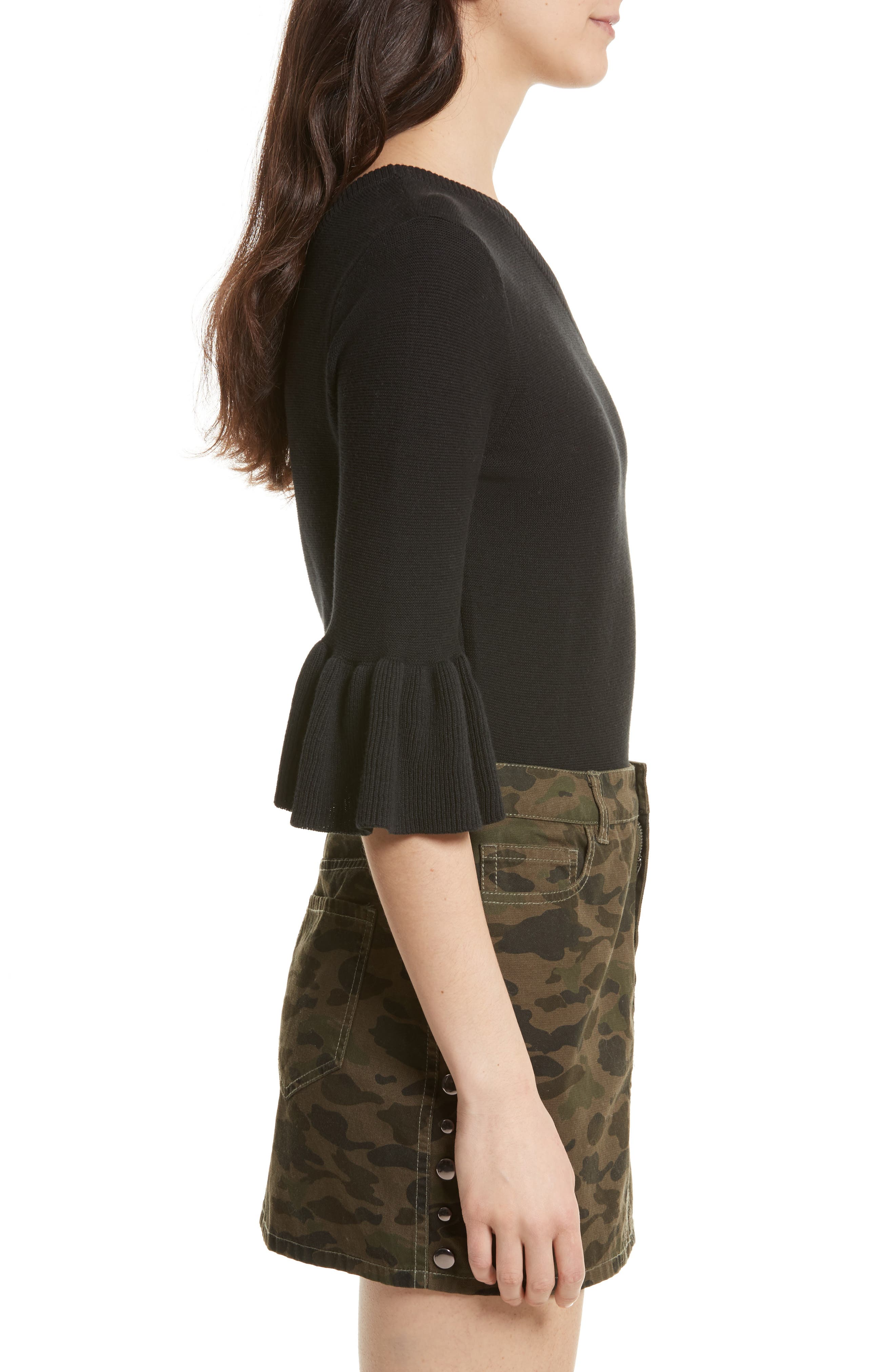 Wappo One-Shoulder Sweater,                             Alternate thumbnail 3, color,                             001