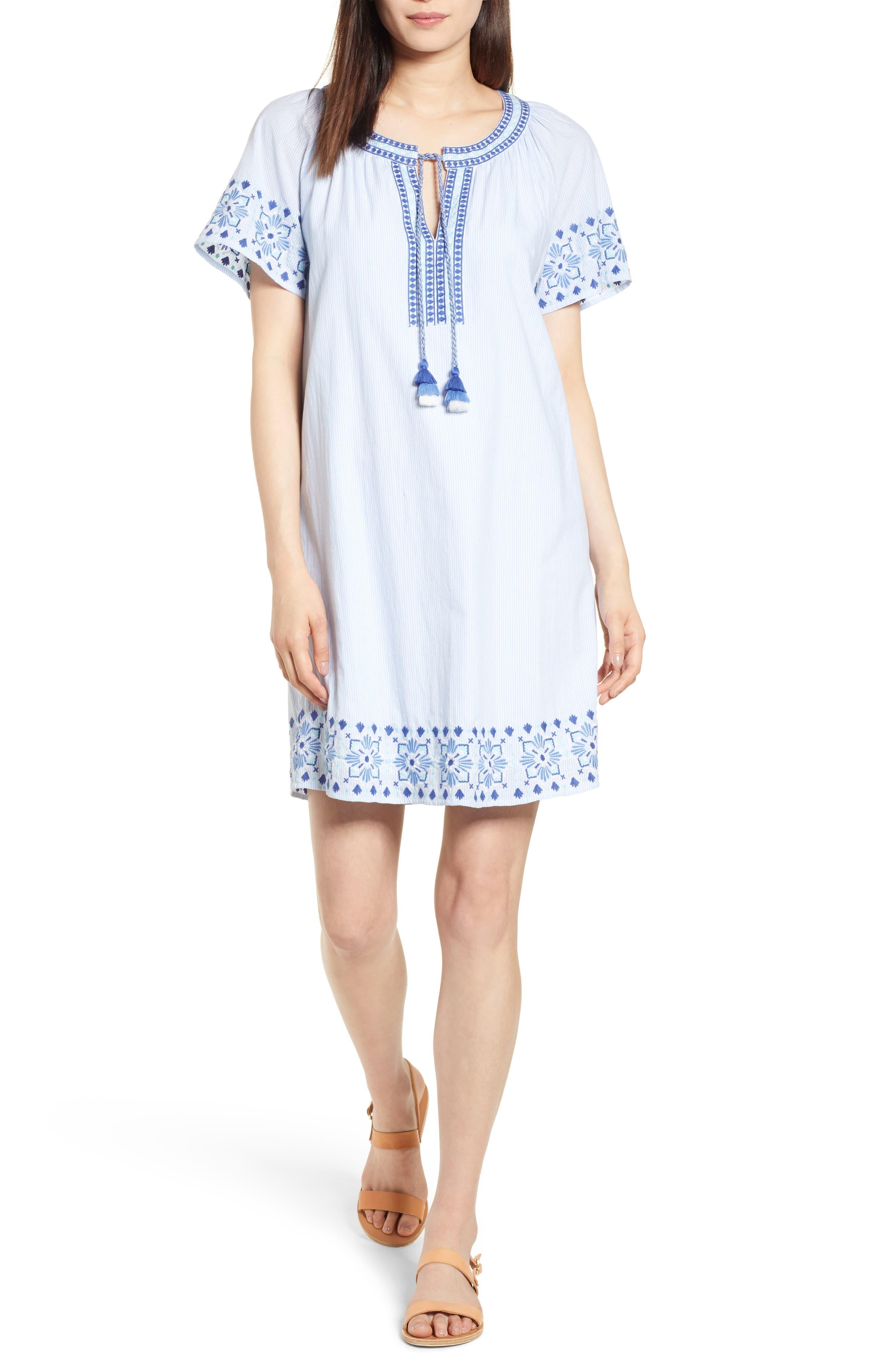 Sea Spray Striped Dress,                         Main,                         color, 458