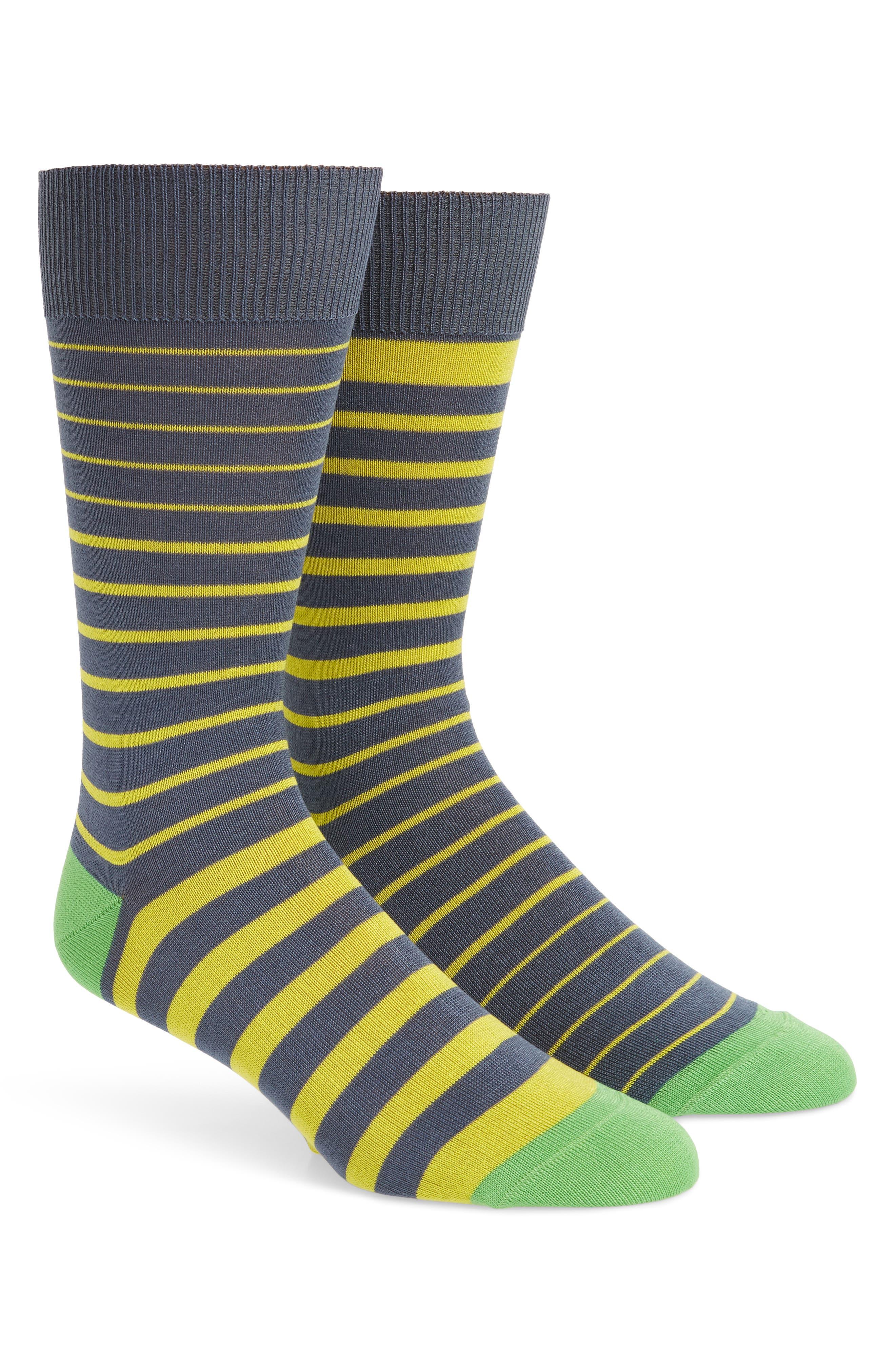 Cube Odd Striped Socks,                         Main,                         color, GREY