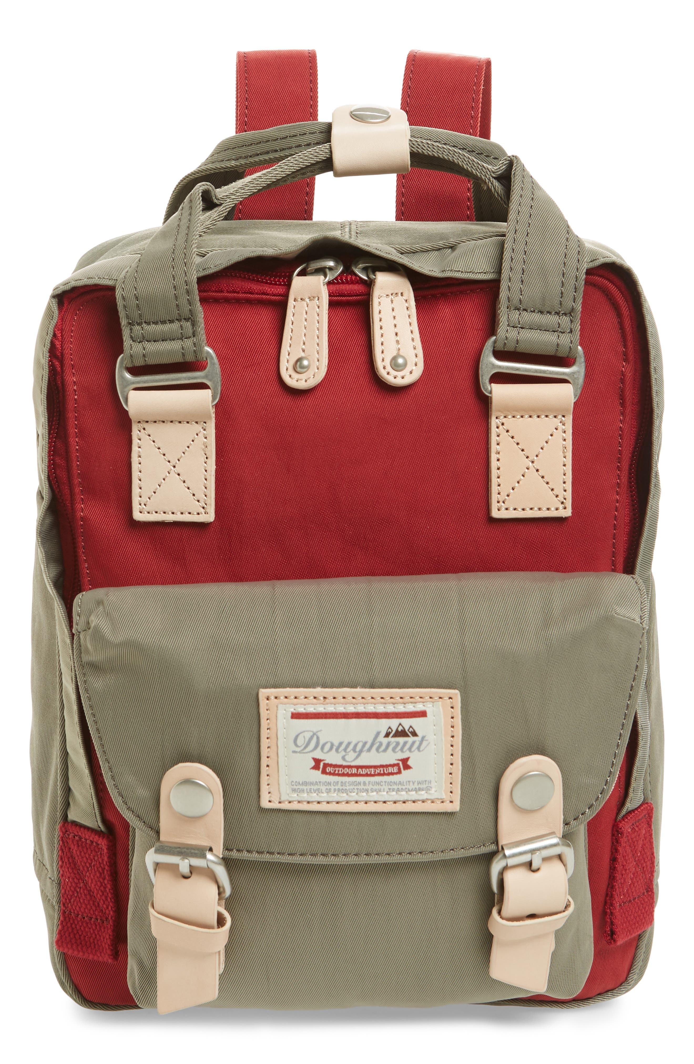 DOUGHNUT Mini Macaroon Colorblock Water Resistant Backpack - Pink in Rose/ Taro