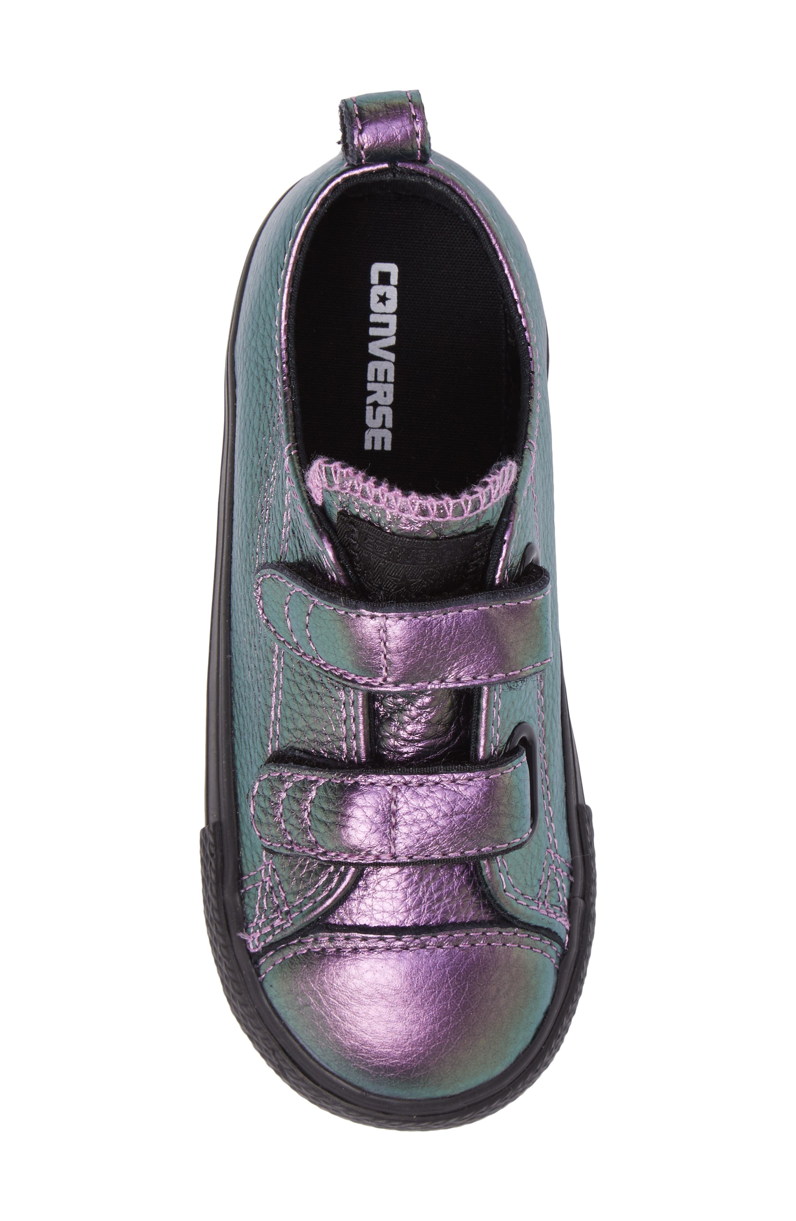 Chuck Taylor<sup>®</sup> All Star<sup>®</sup> Iridescent Leather Low Top Sneaker,                             Alternate thumbnail 5, color,                             500