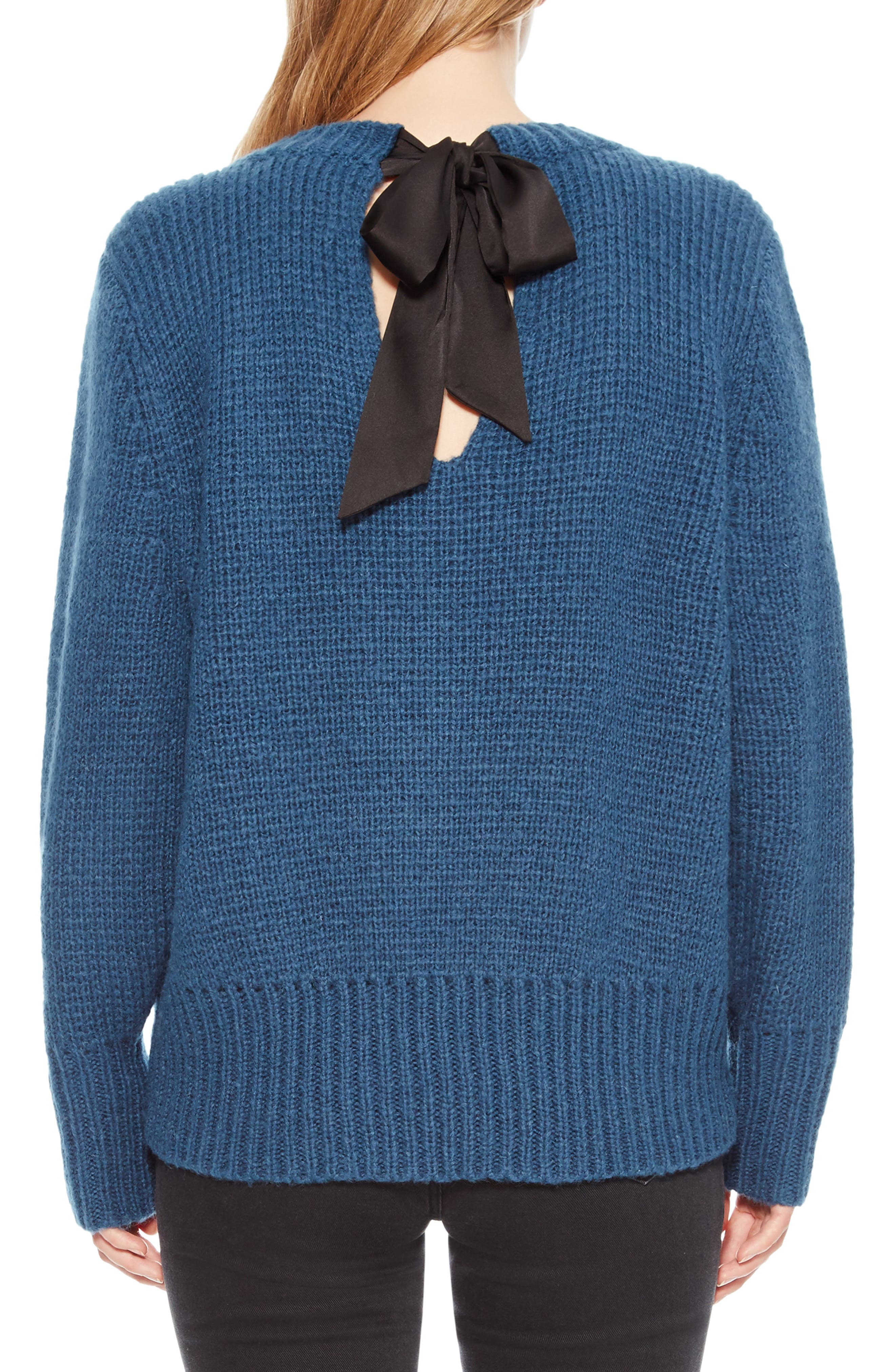 Matty Bow Back Sweater,                             Alternate thumbnail 2, color,                             449