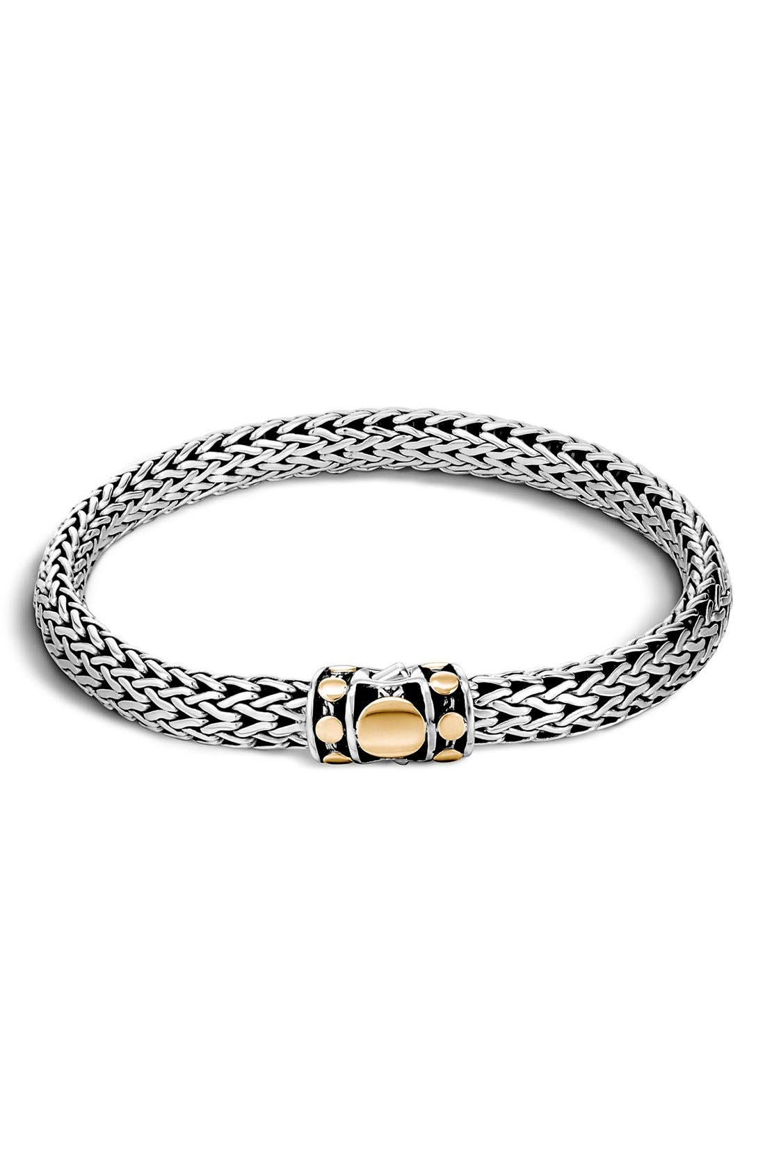 Dot 6.5mm Bracelet,                         Main,                         color, STERLING SILVER - GOLD