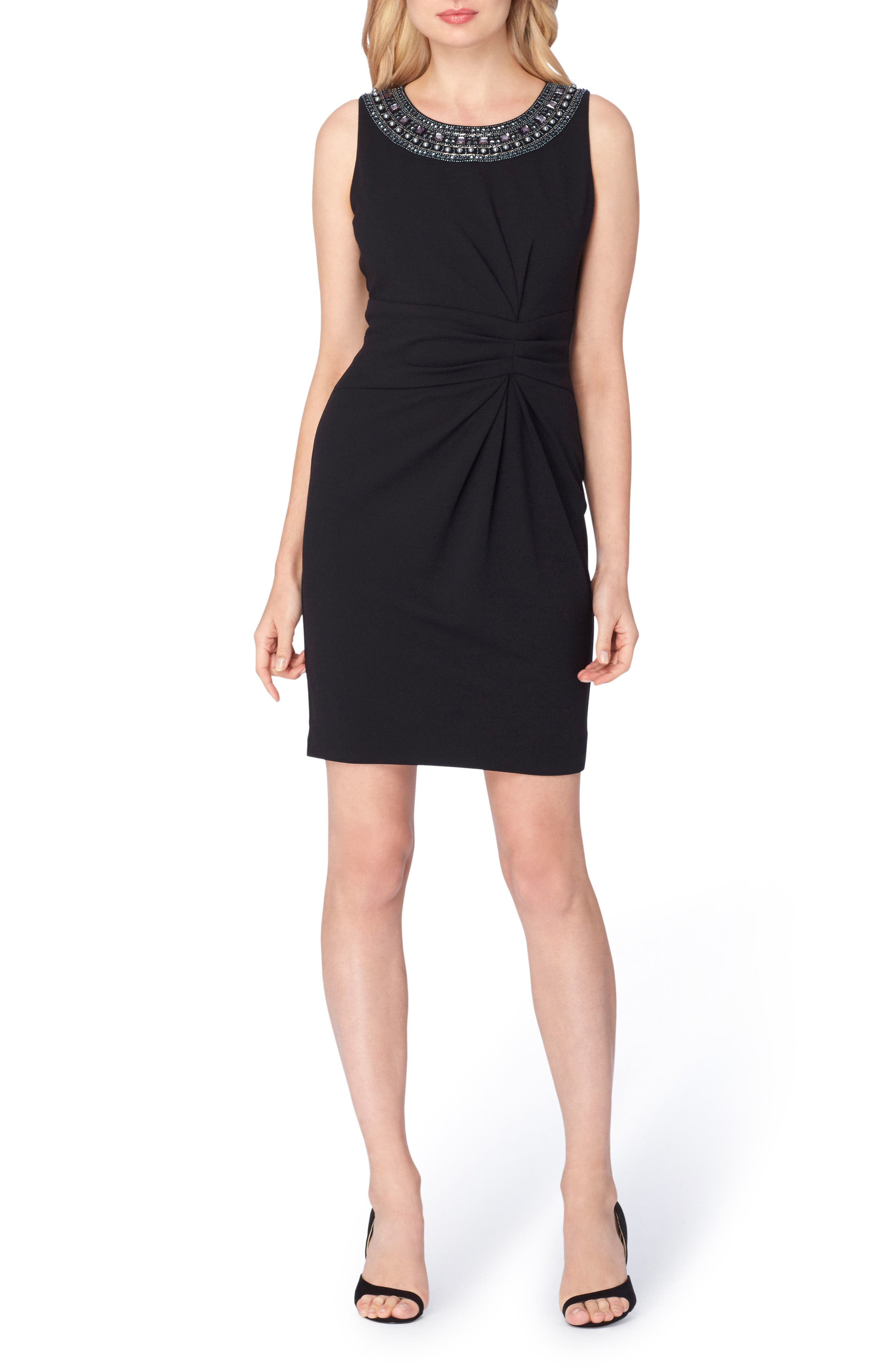 Embellished Sheath Dress,                             Main thumbnail 1, color,                             001