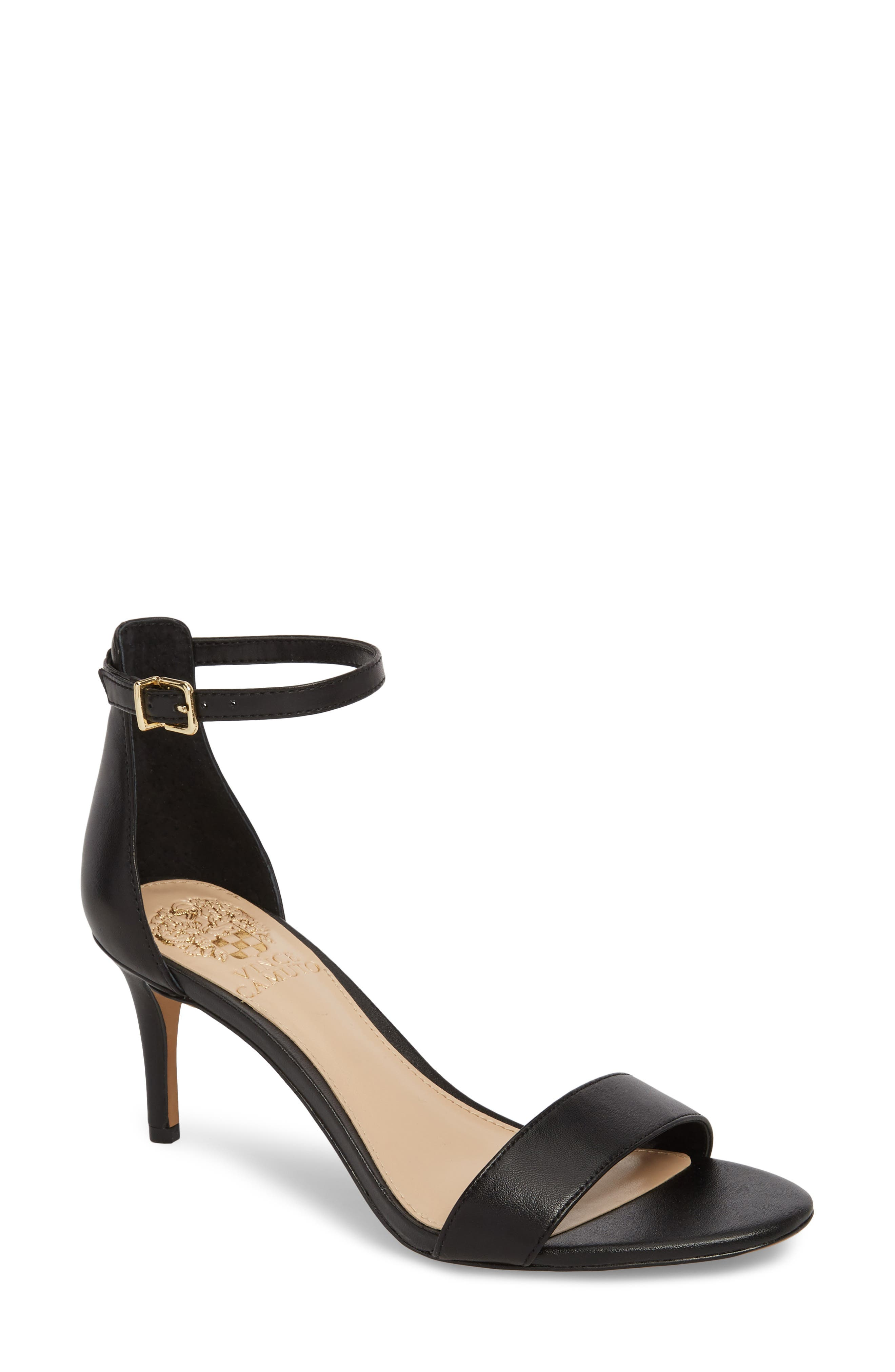 Sebatini Sandal,                         Main,                         color, BLACK LEATHER