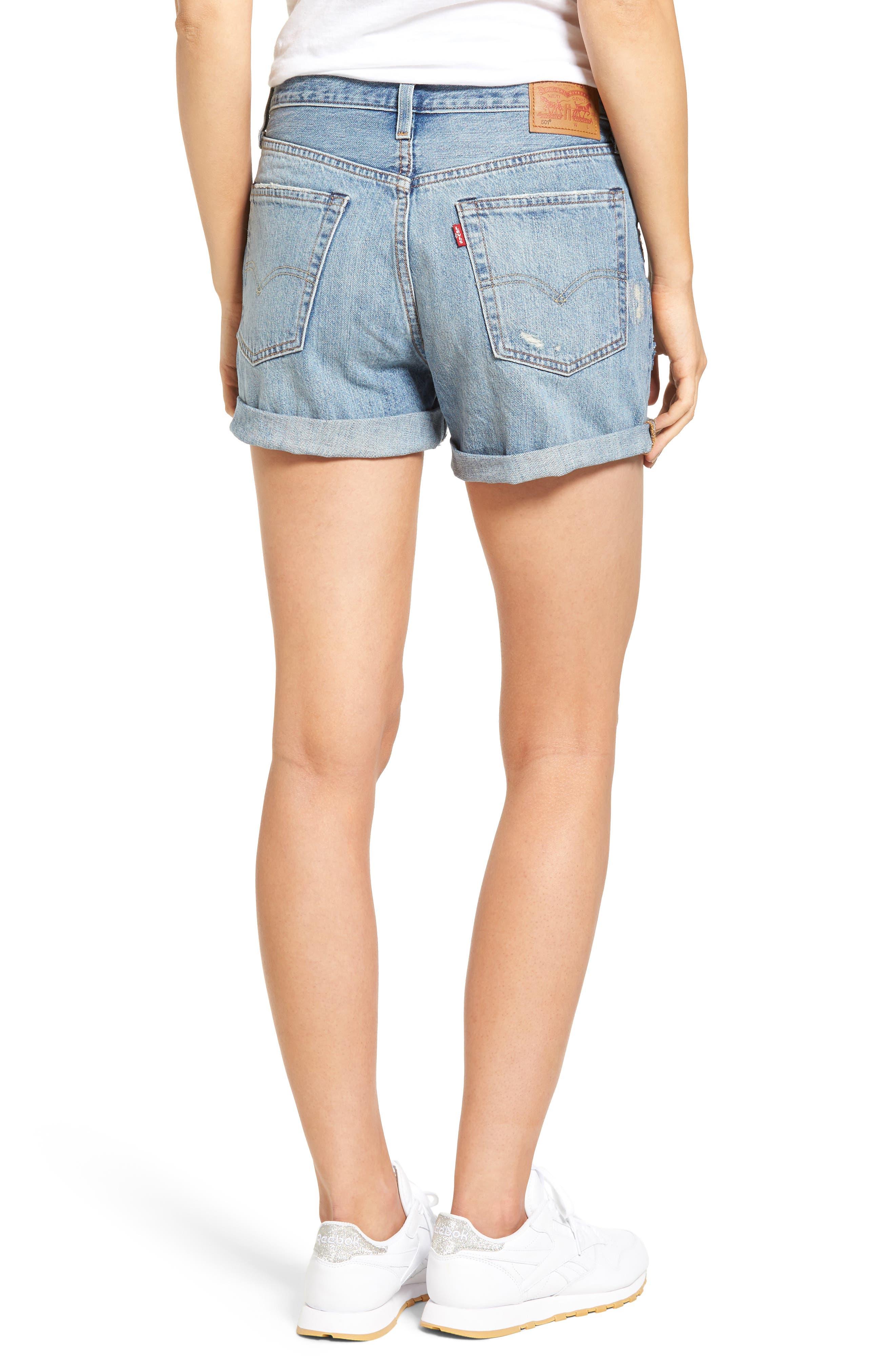 501 Long Denim Shorts,                             Alternate thumbnail 2, color,                             400