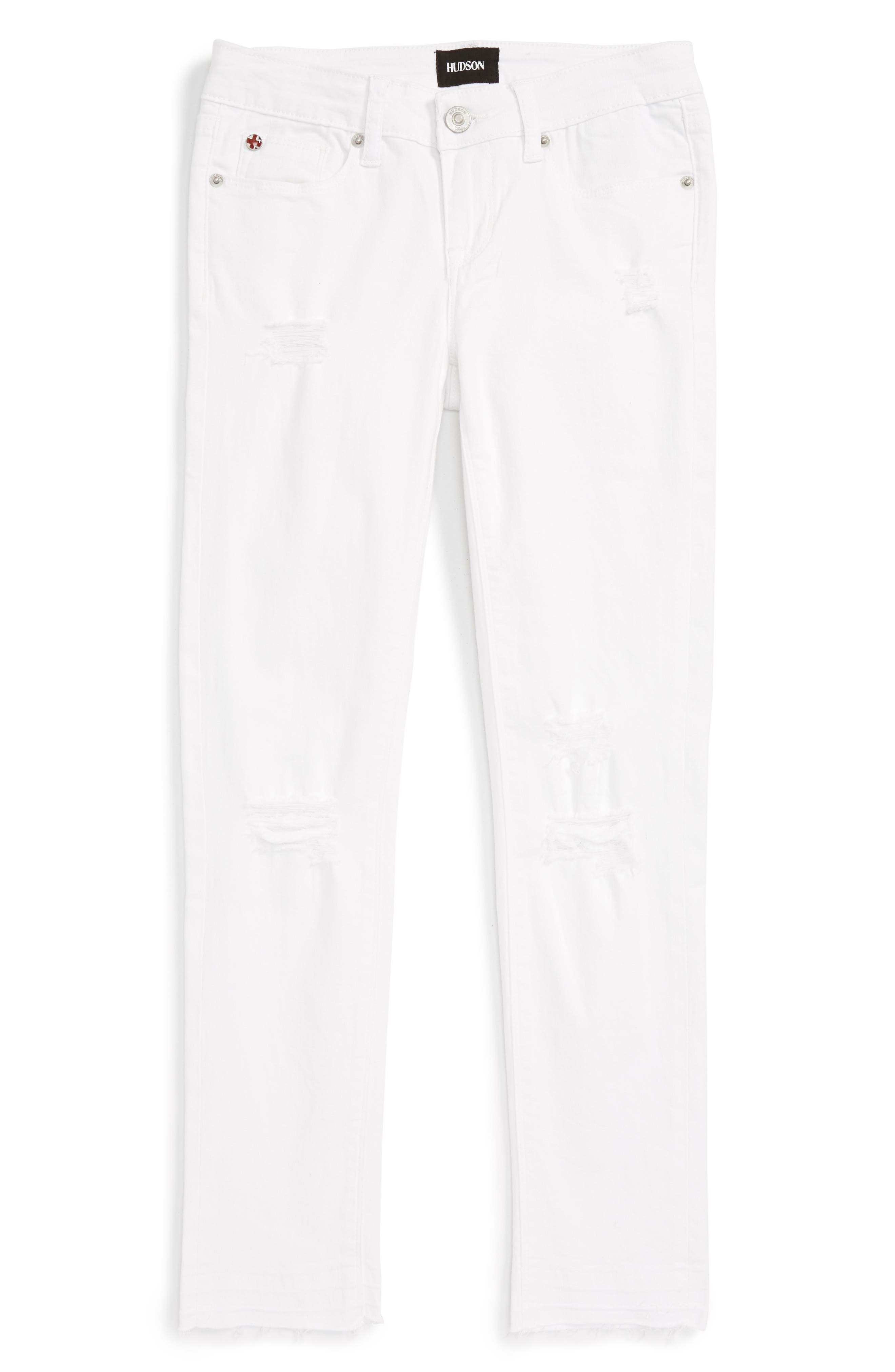 Seaside Crop Skinny Jeans,                             Main thumbnail 1, color,                             100
