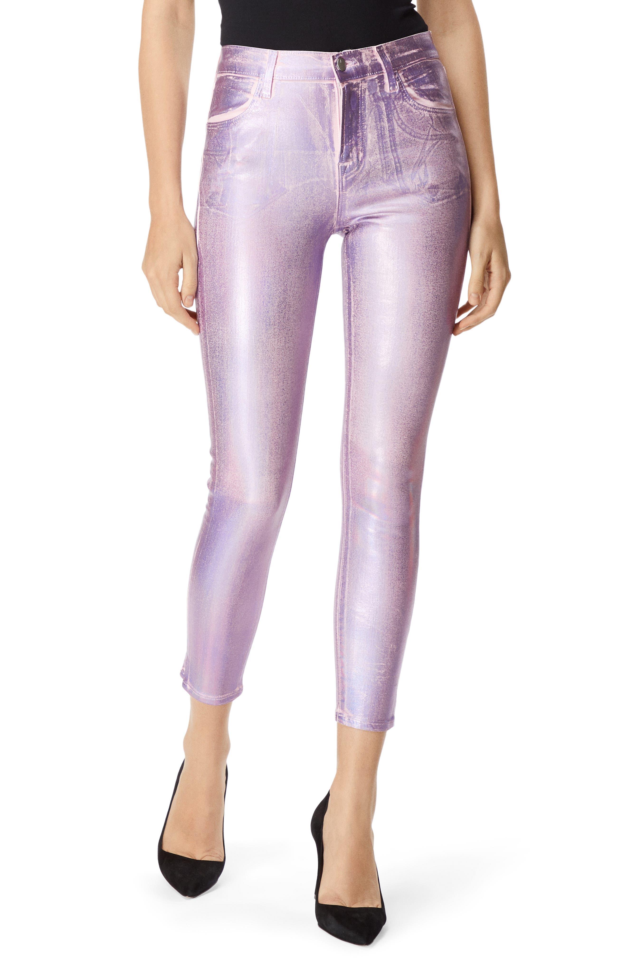 Alana High Waist Crop Skinny Jeans,                         Main,                         color, PINK PRISM