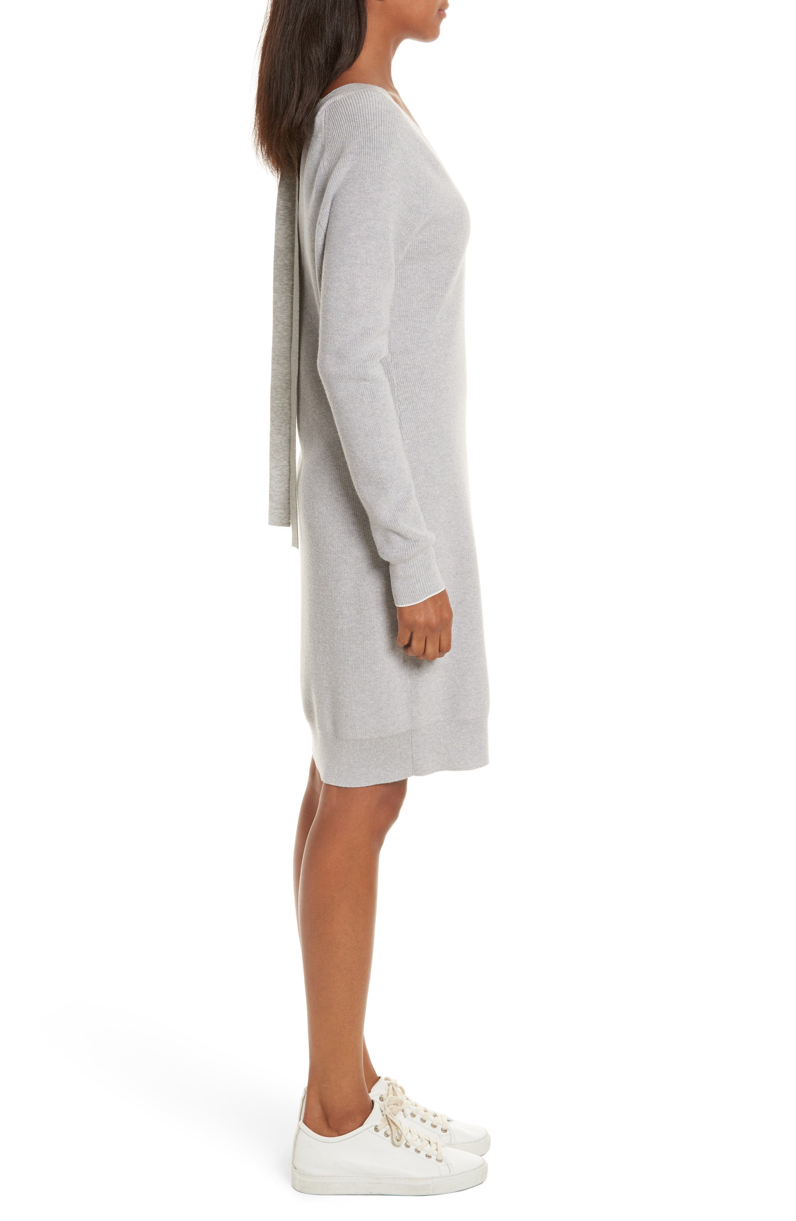 Wool Blend Sweater Dress,                             Alternate thumbnail 3, color,                             023