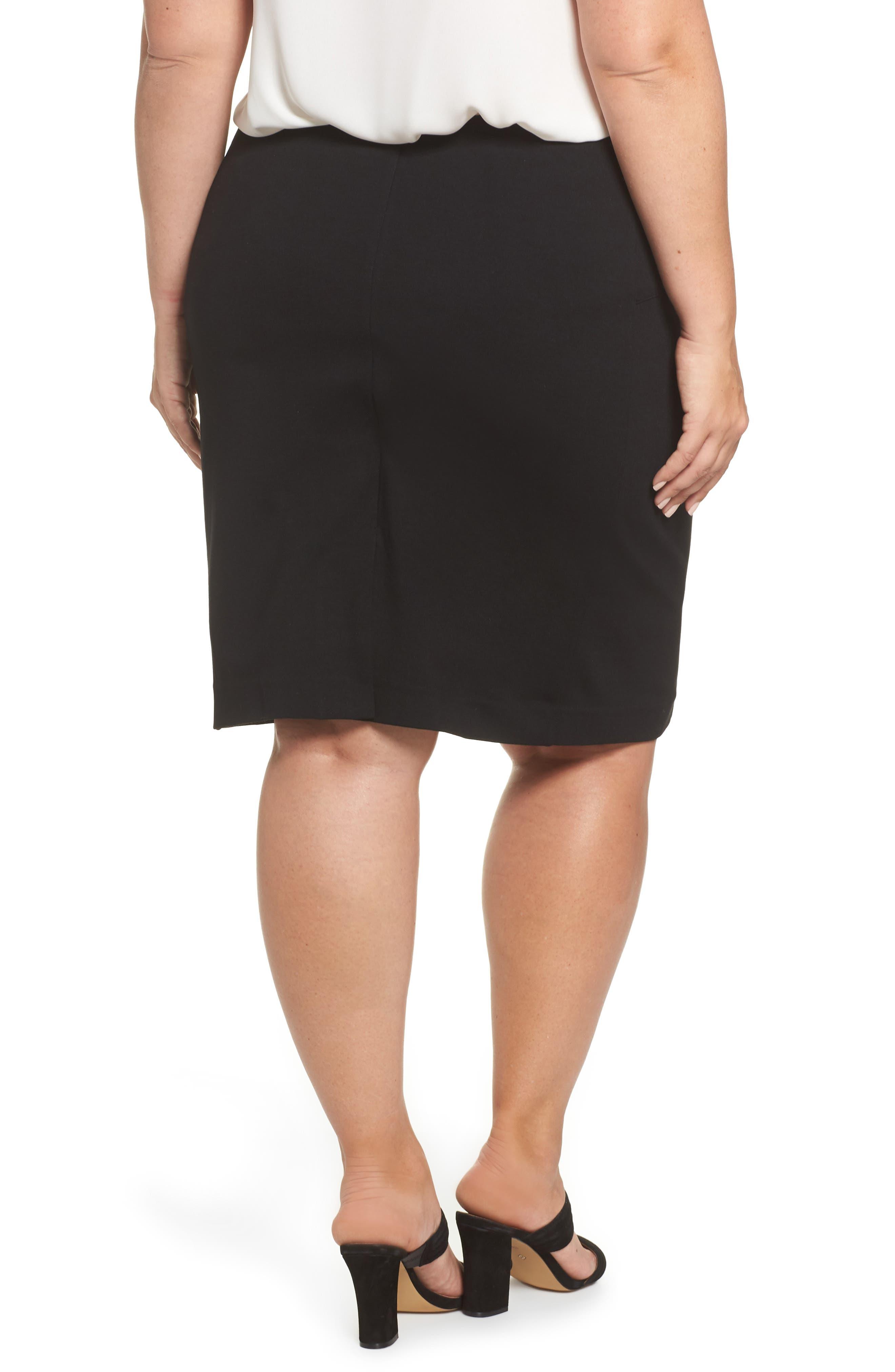 Perfect High Waist Skirt,                             Alternate thumbnail 2, color,                             BLACK