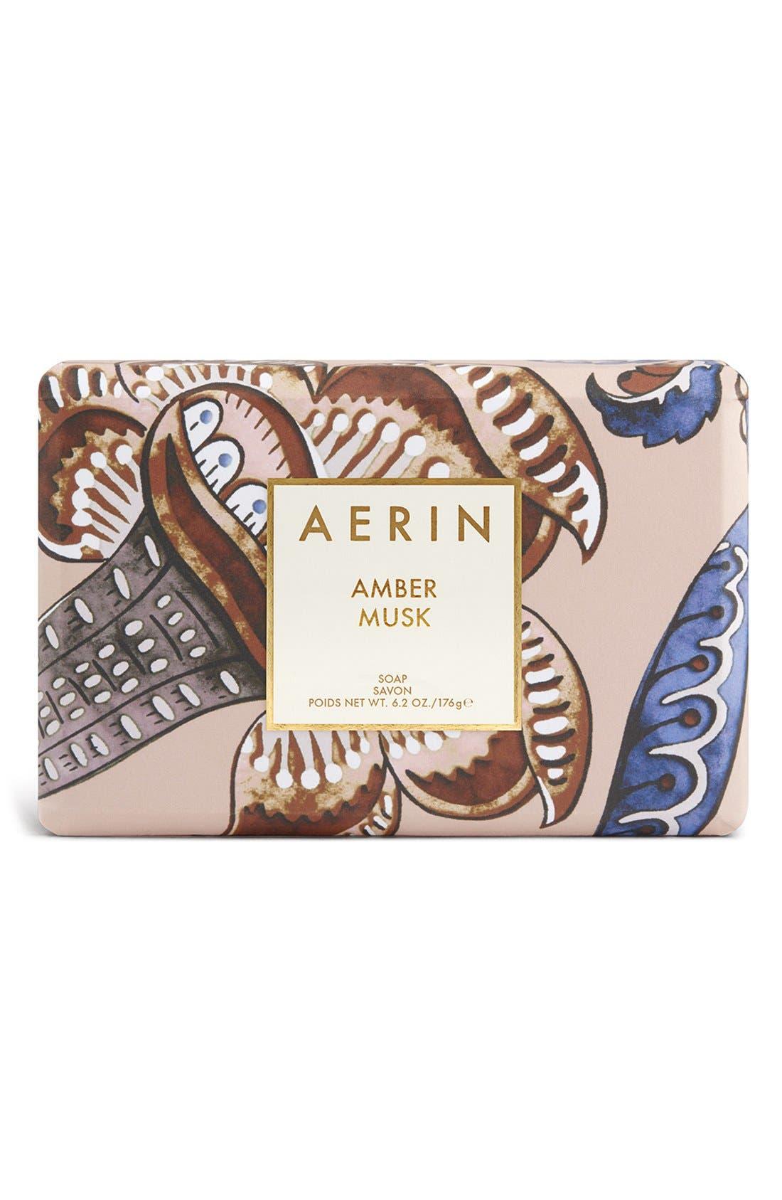 AERIN Beauty Amber Musk Soap,                             Main thumbnail 1, color,                             000