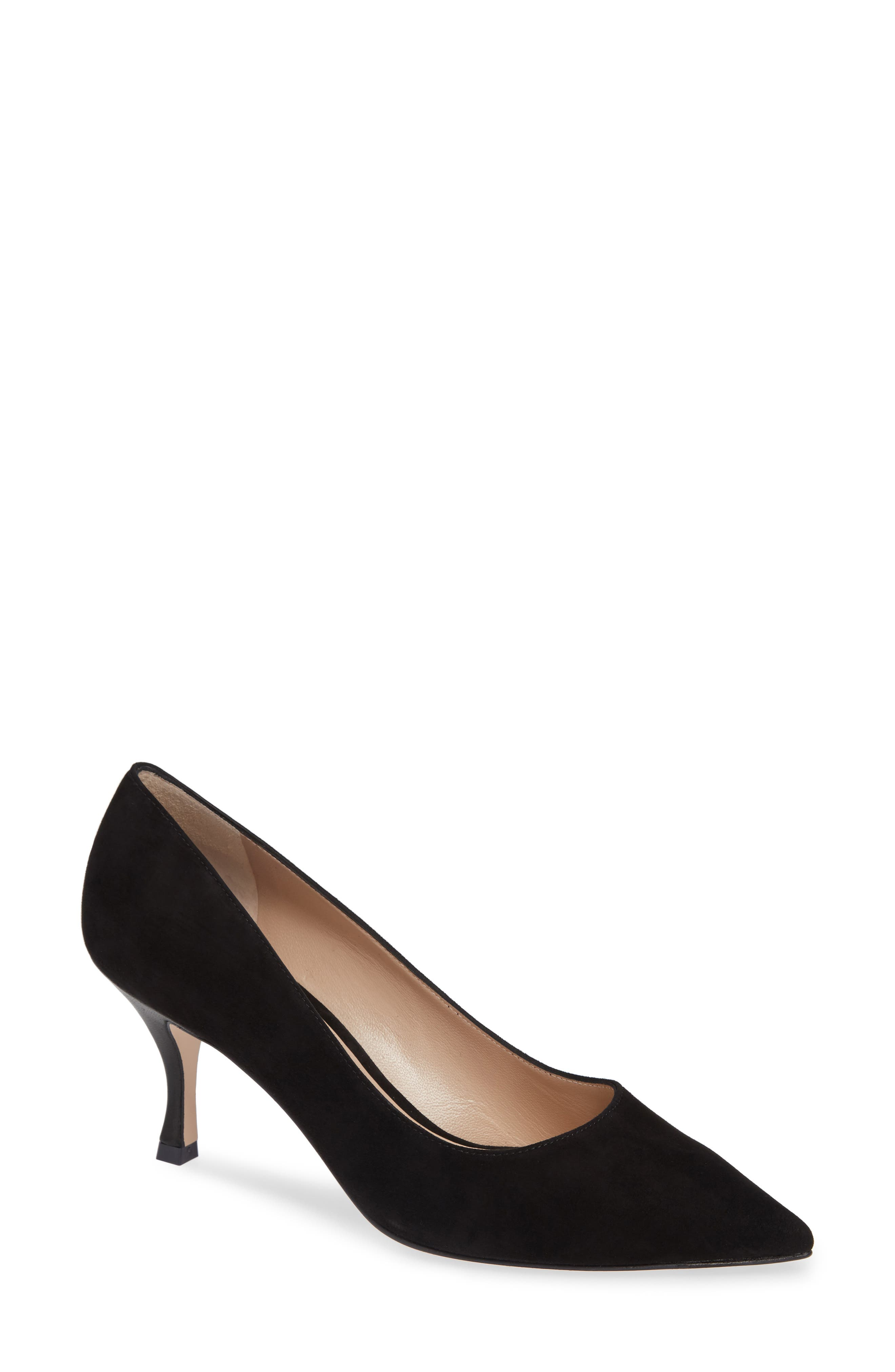 Tippi 70 Pointy Toe Pump,                             Main thumbnail 1, color,                             PITCH BLACK