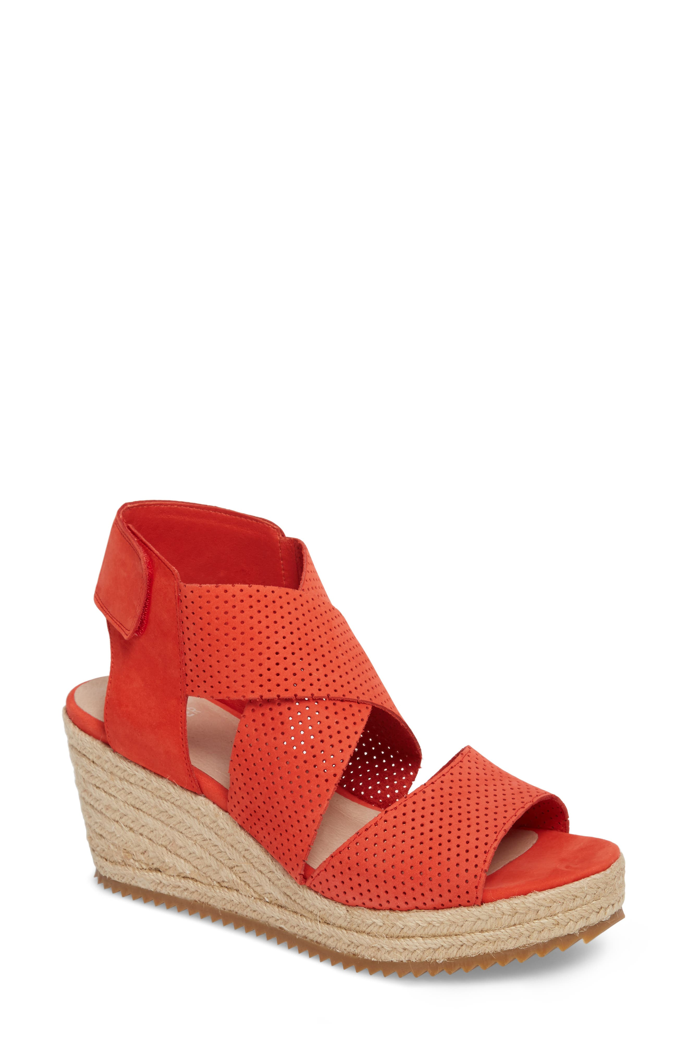 'Willow' Espadrille Wedge Sandal,                         Main,                         color, PERSIMMON NUBUCK
