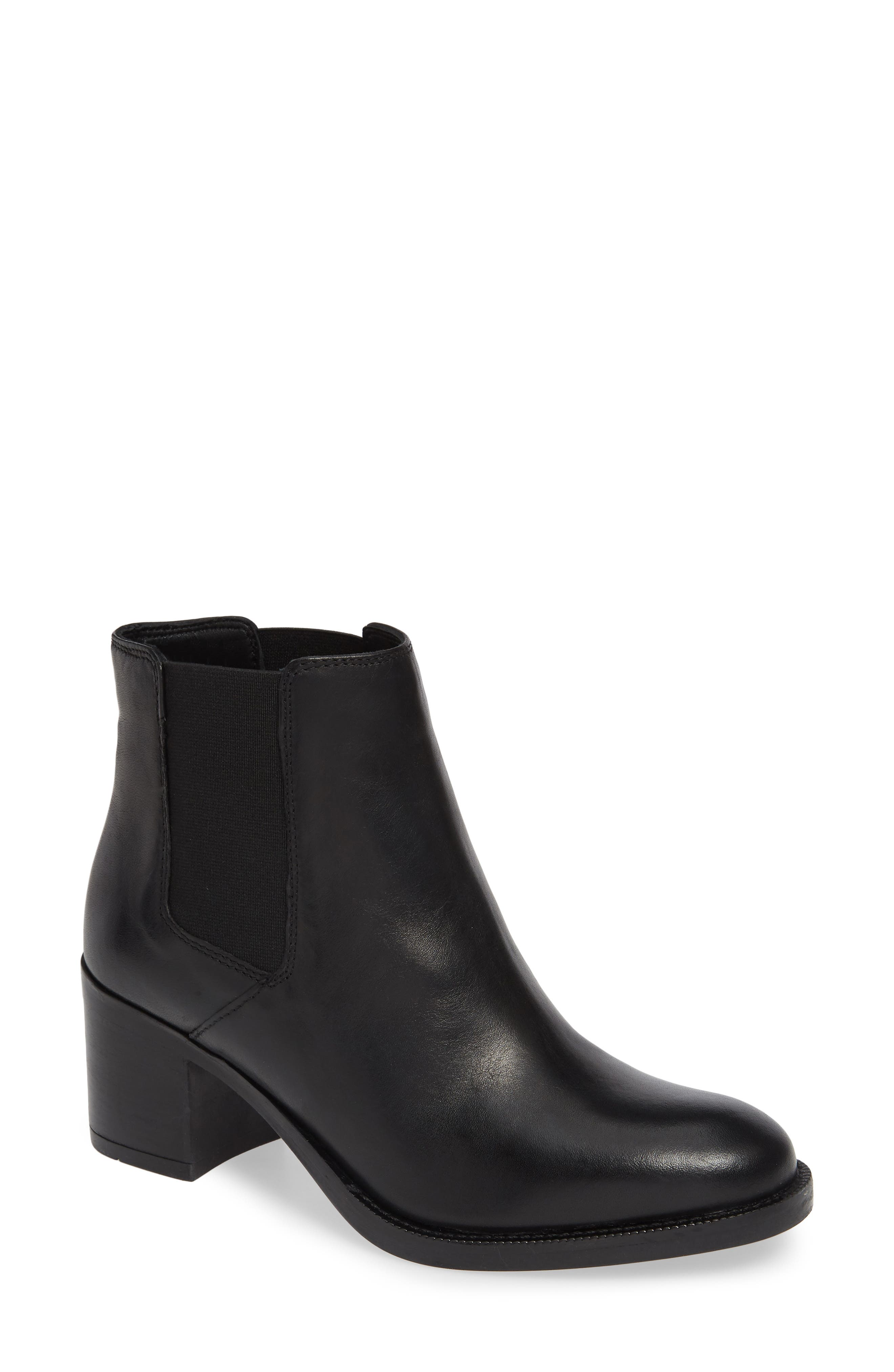Mascarpone Bay Chelsea Boot,                             Main thumbnail 1, color,                             BLACK LEATHER